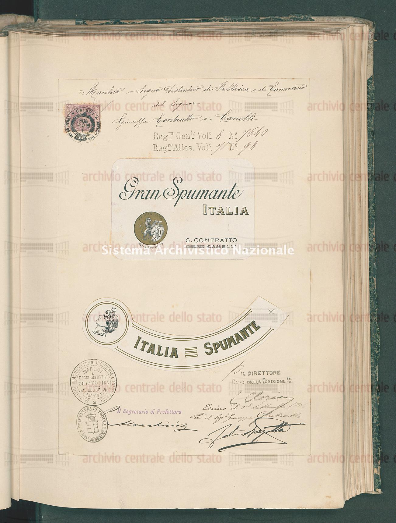 Contratto Giuseppe (22/11/1906)
