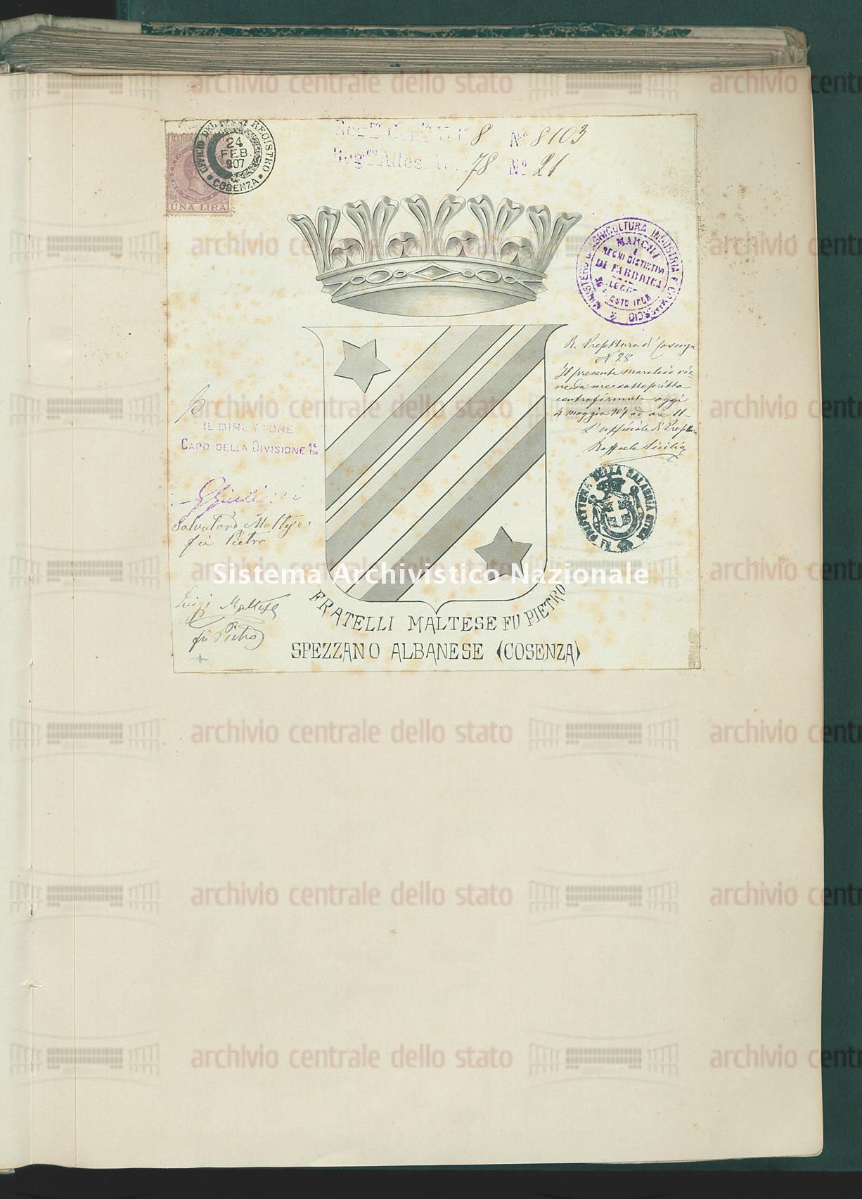 Maltese Salvatore E Maltese Luigi Fratelli (08/11/1907)