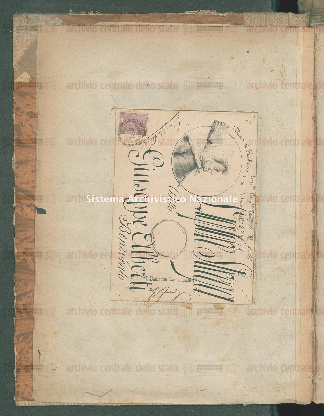 Attestato di trascrizione per marchio: Liquore Ditta Giuseppe Alberti (06/07/1894)