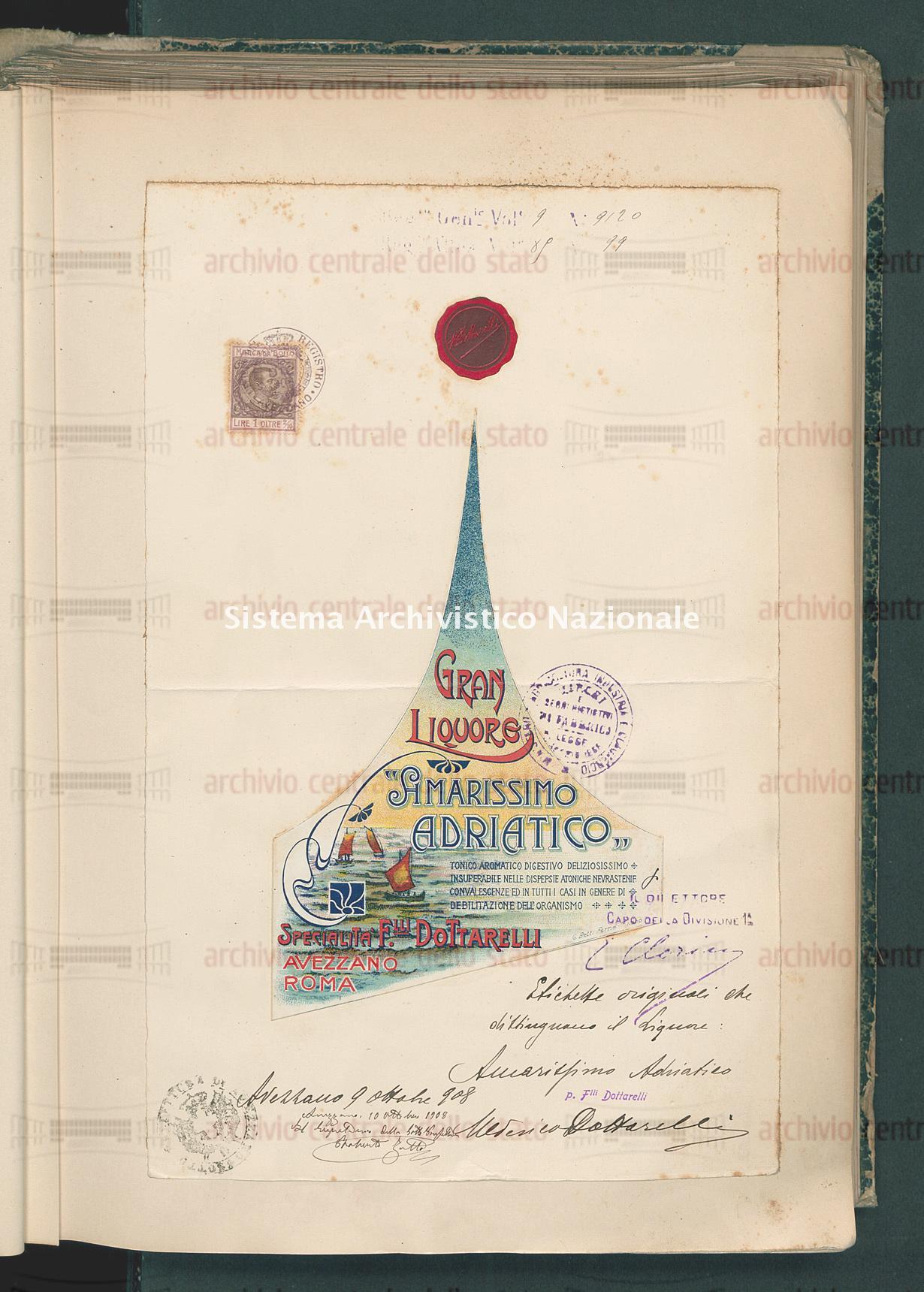Ditta F.Lli Dottarelli Ad Avezzano (03/04/1909)