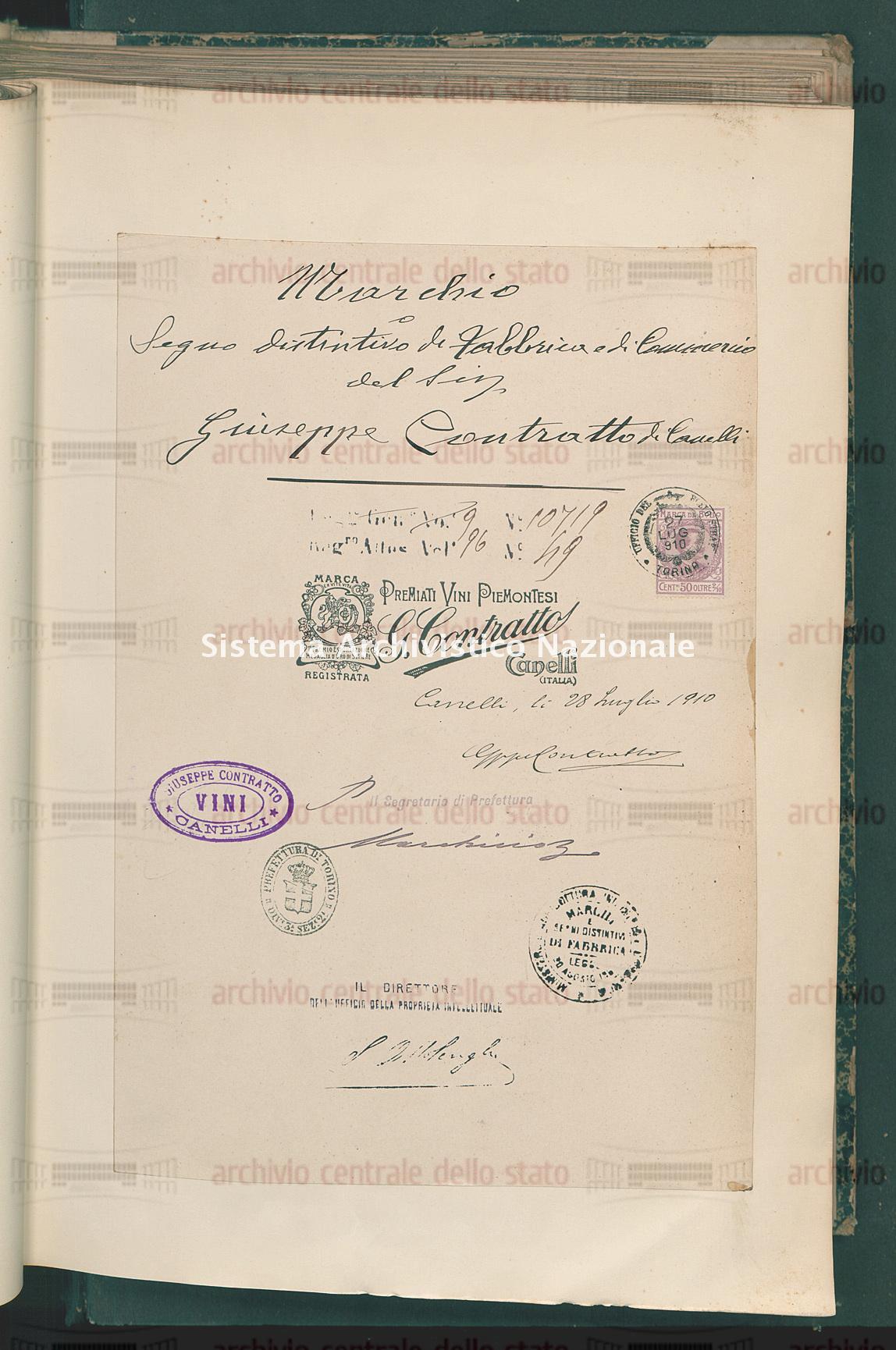Contratto Giuseppe (19/10/1910)