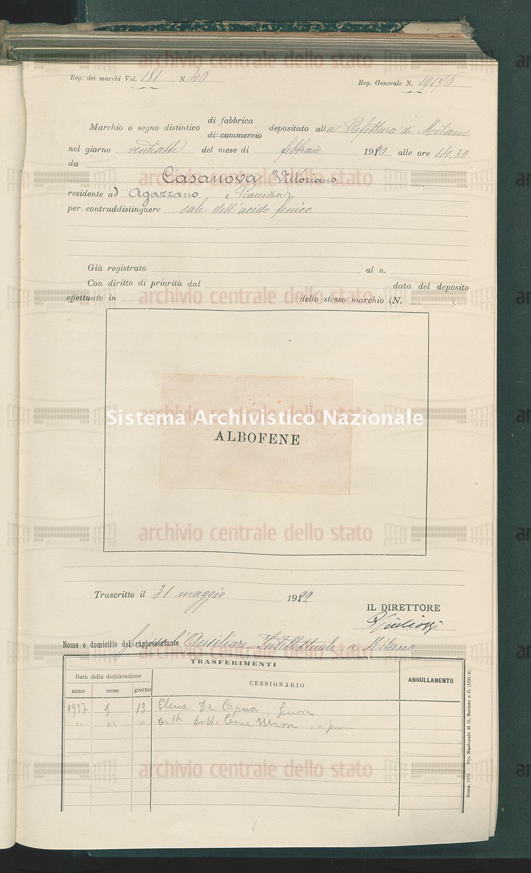Casanova Vittoriano (31/05/1922)
