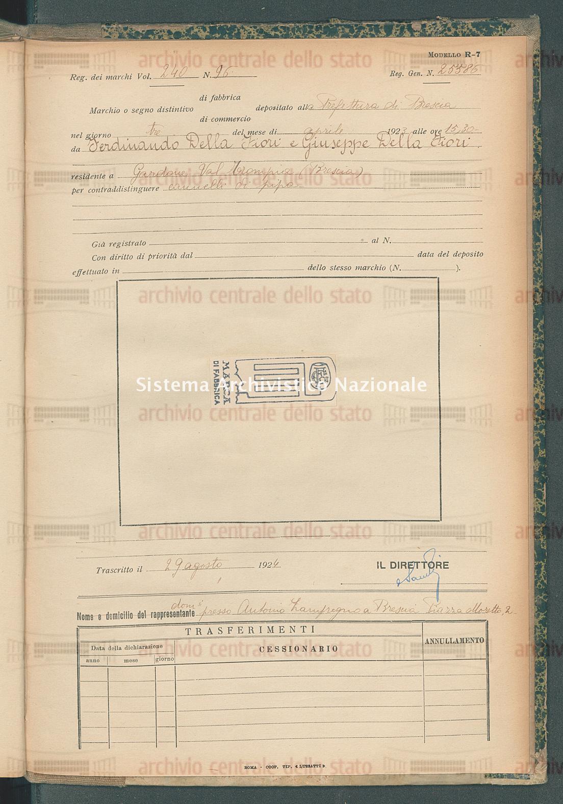 Ferndinando Della Fiori E Giuseppe Della Fiori (29/08/1924)