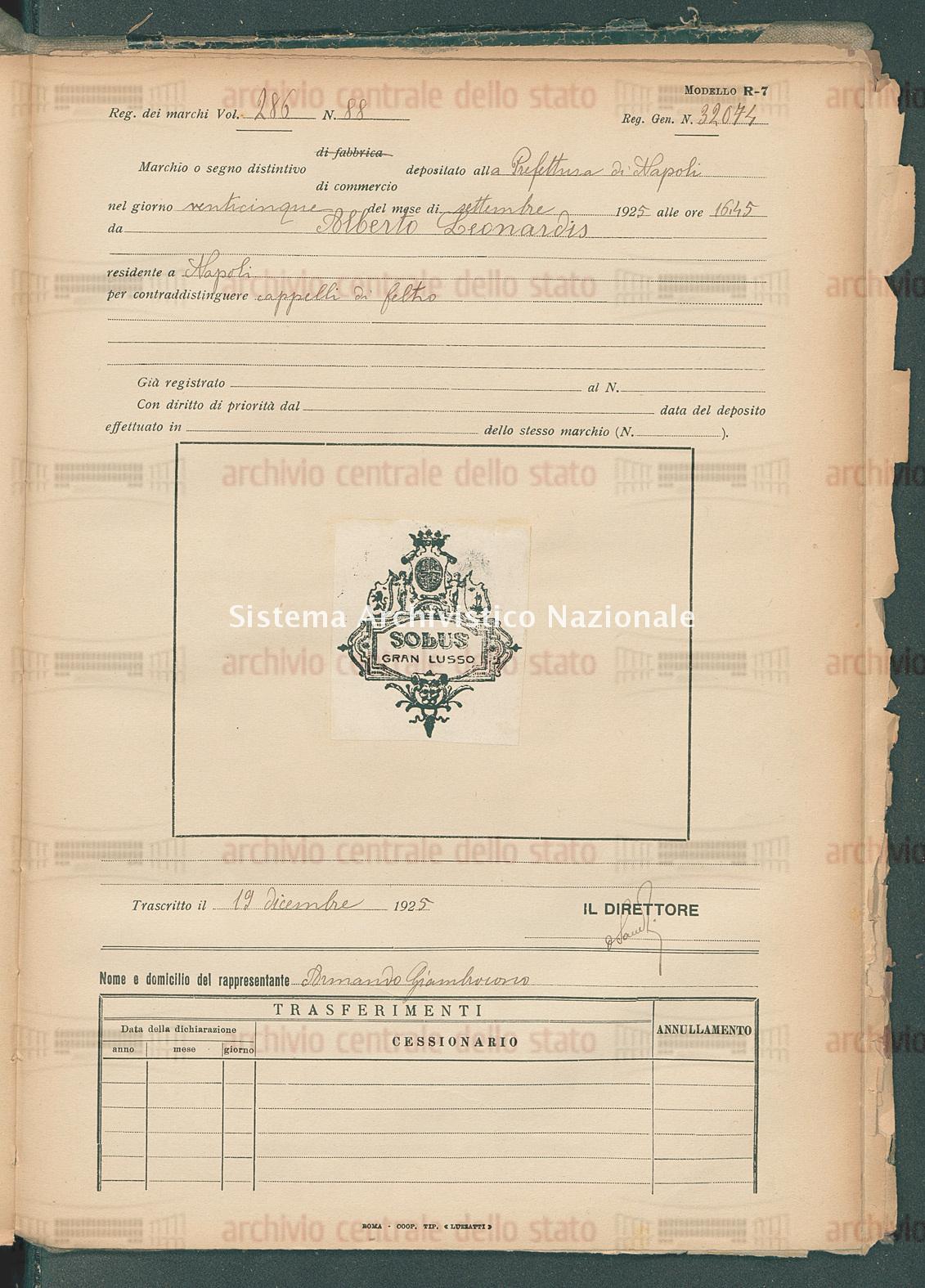 Alberto Leonardis (19/12/1925)