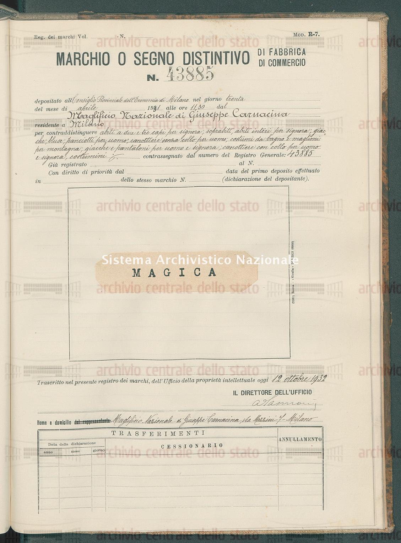 Abiti, indumenti e capi ecc. Maglificio Nazionale Di Giuseppe Carnacina (12/10/1932)