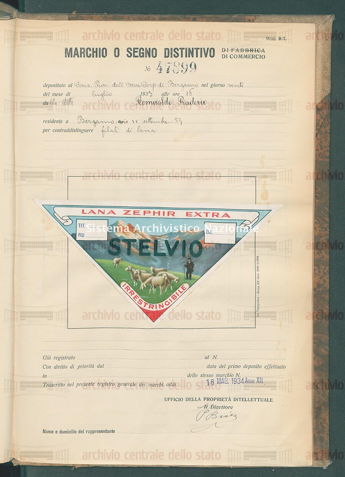 Filati di lana Ditta Romualdo Praderio (16/05/1934)