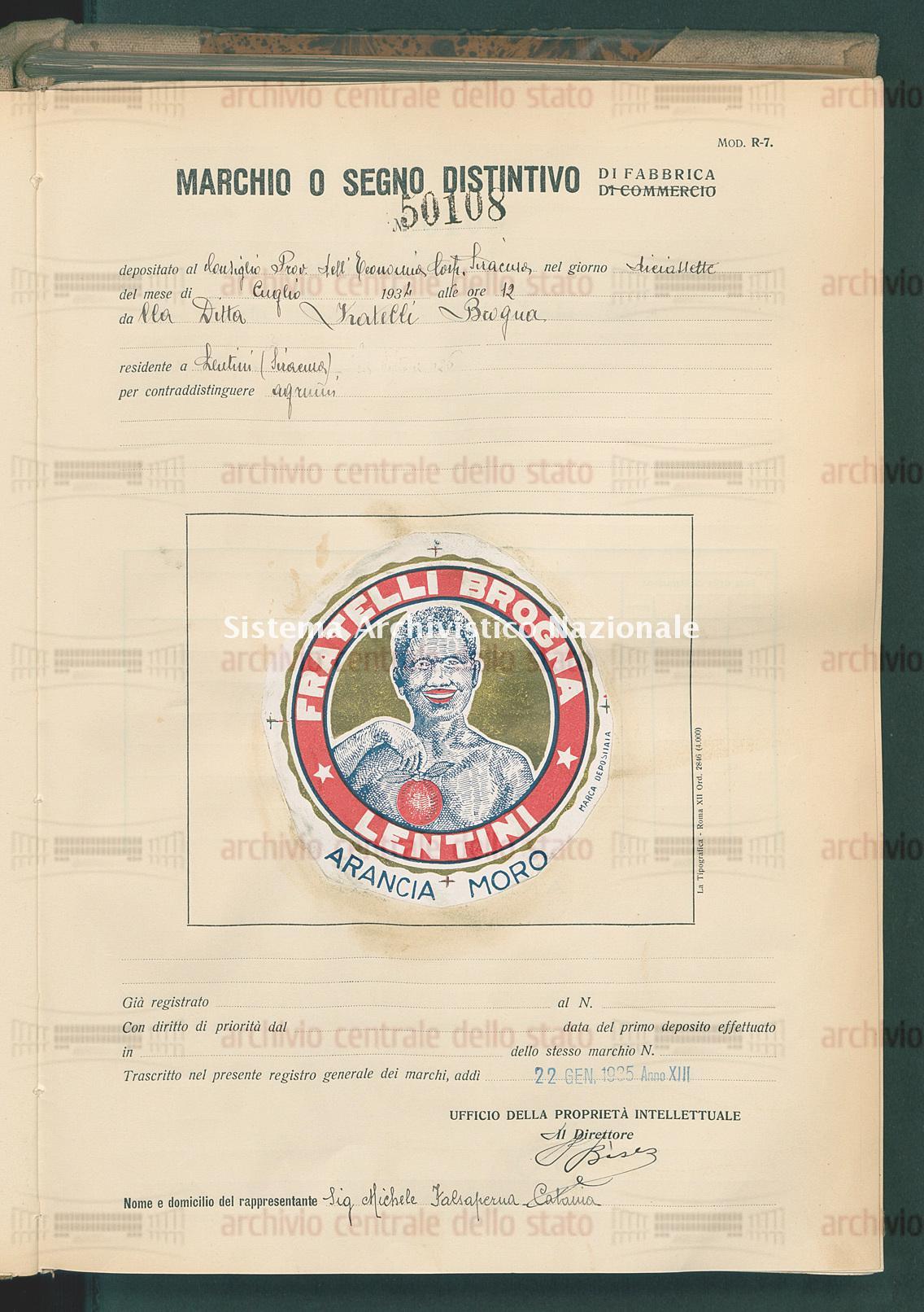 Agrumi Ditta Fratelli Brogna (22/01/1935)