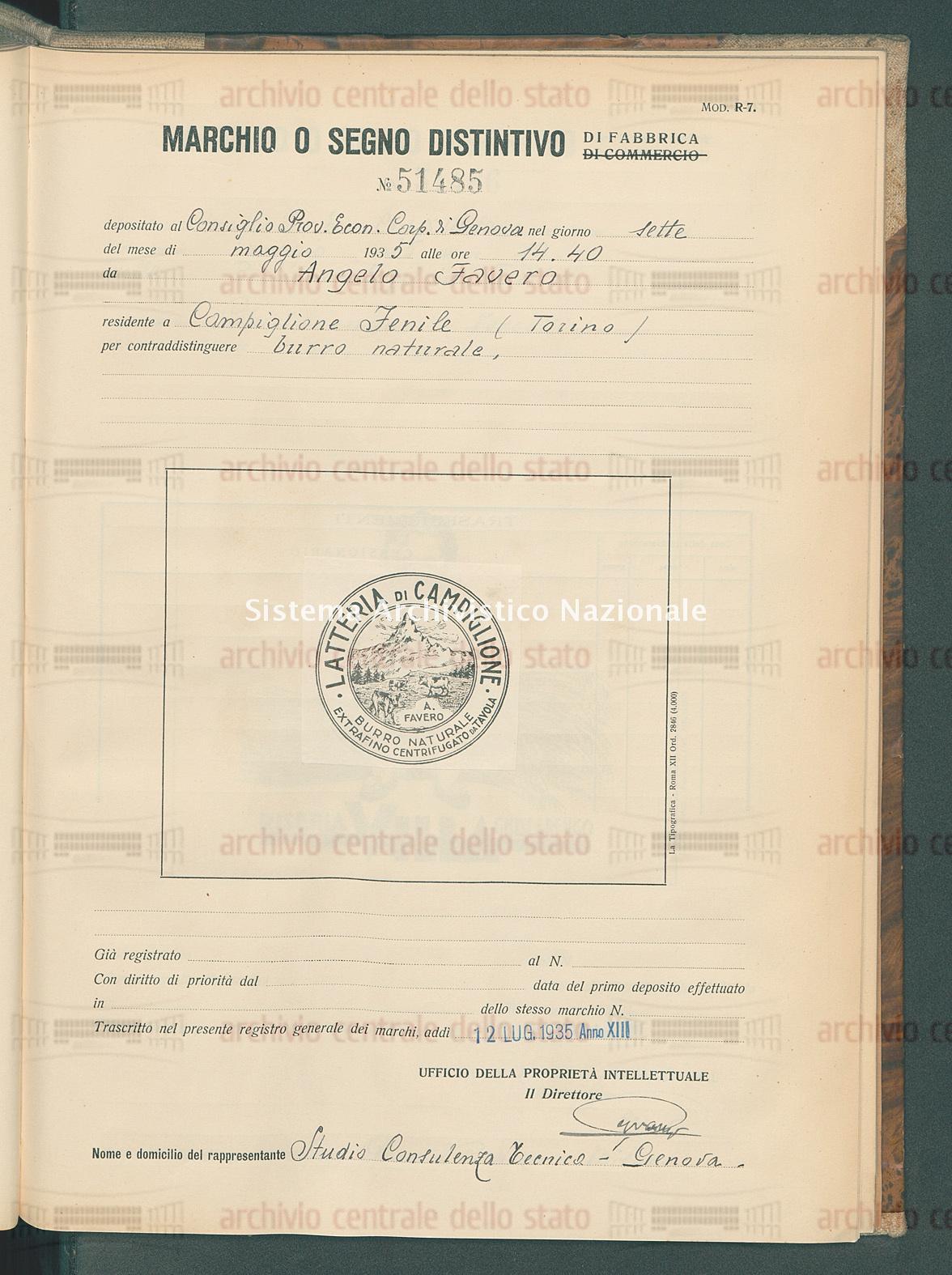 Burro naturale. Angelo Favero (12/07/1935)