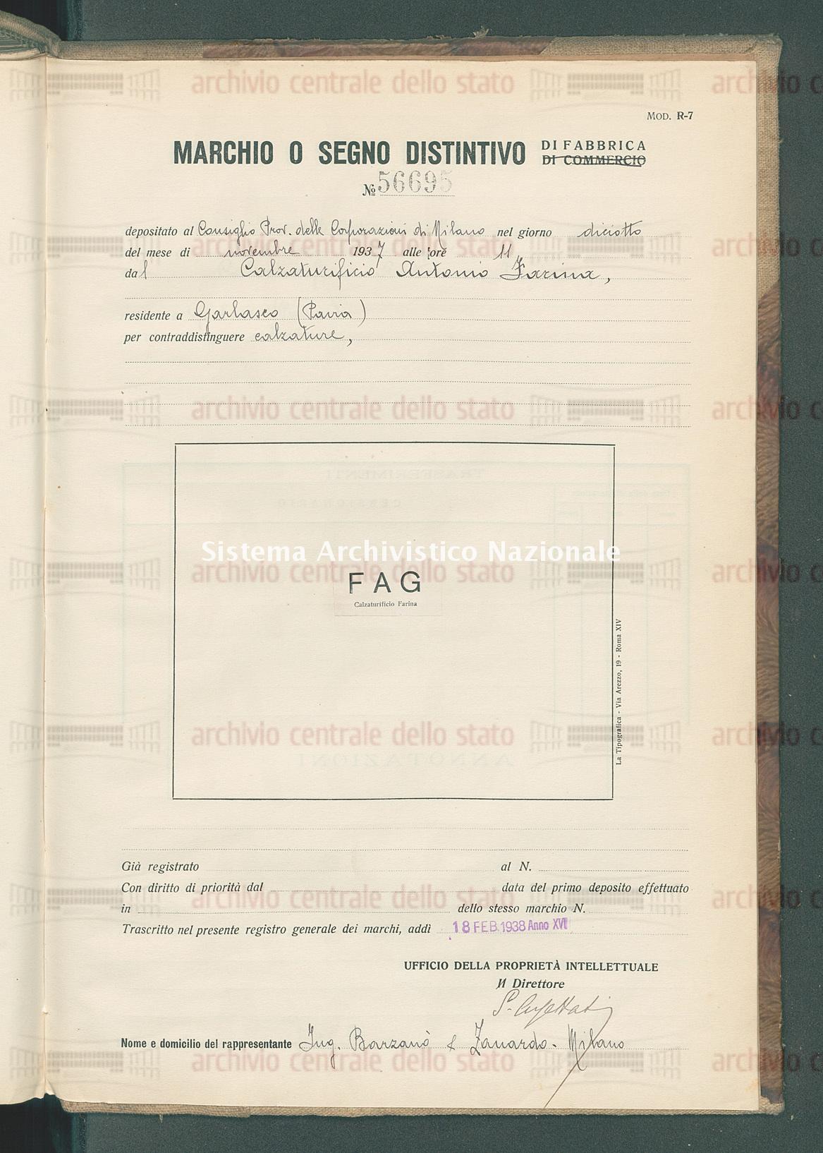 Calzature Calzaturificio Antonio Farina (18/02/1938)