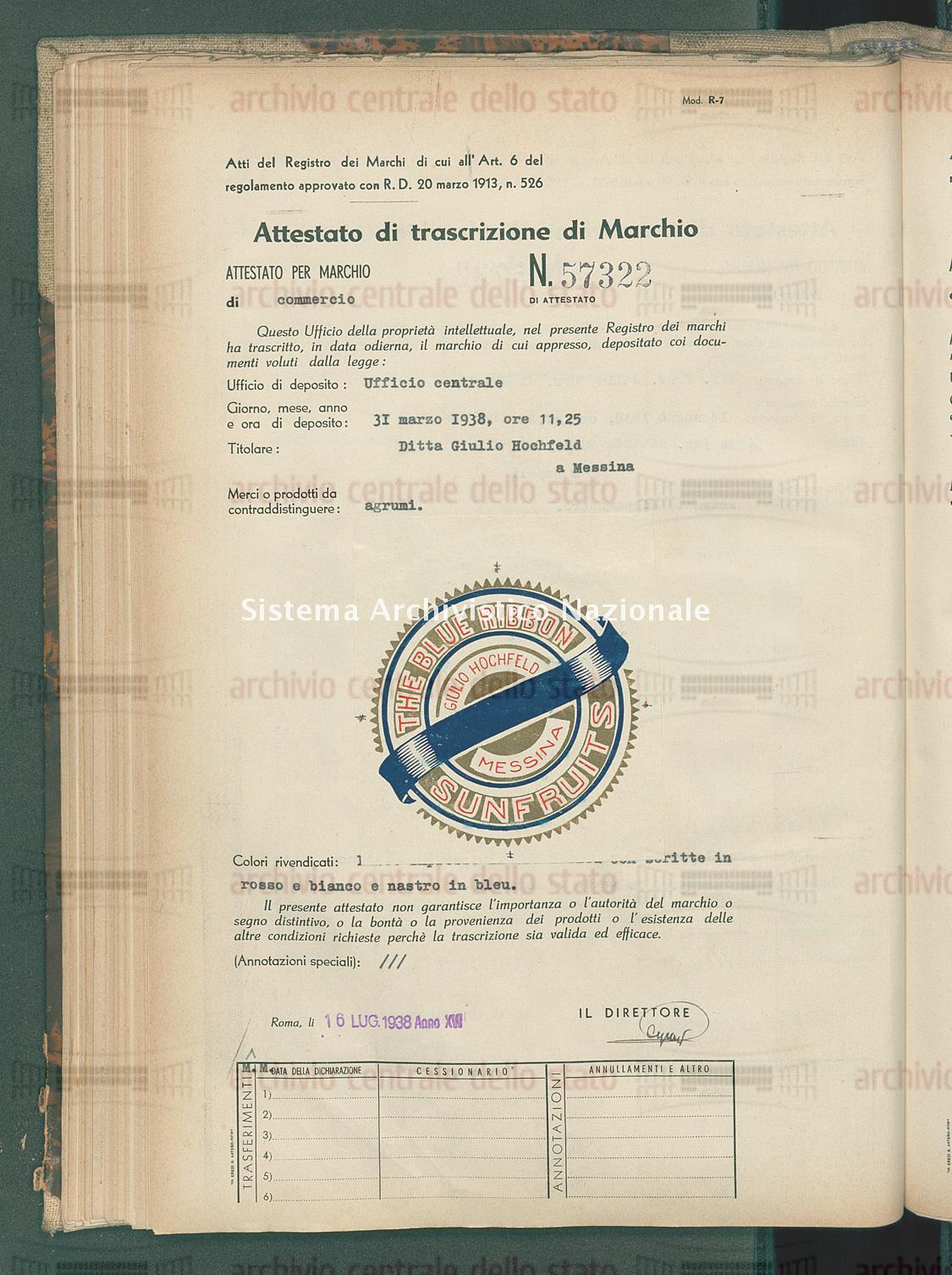 Agrumi Ditta Guido Hochfeld (16/07/1938)