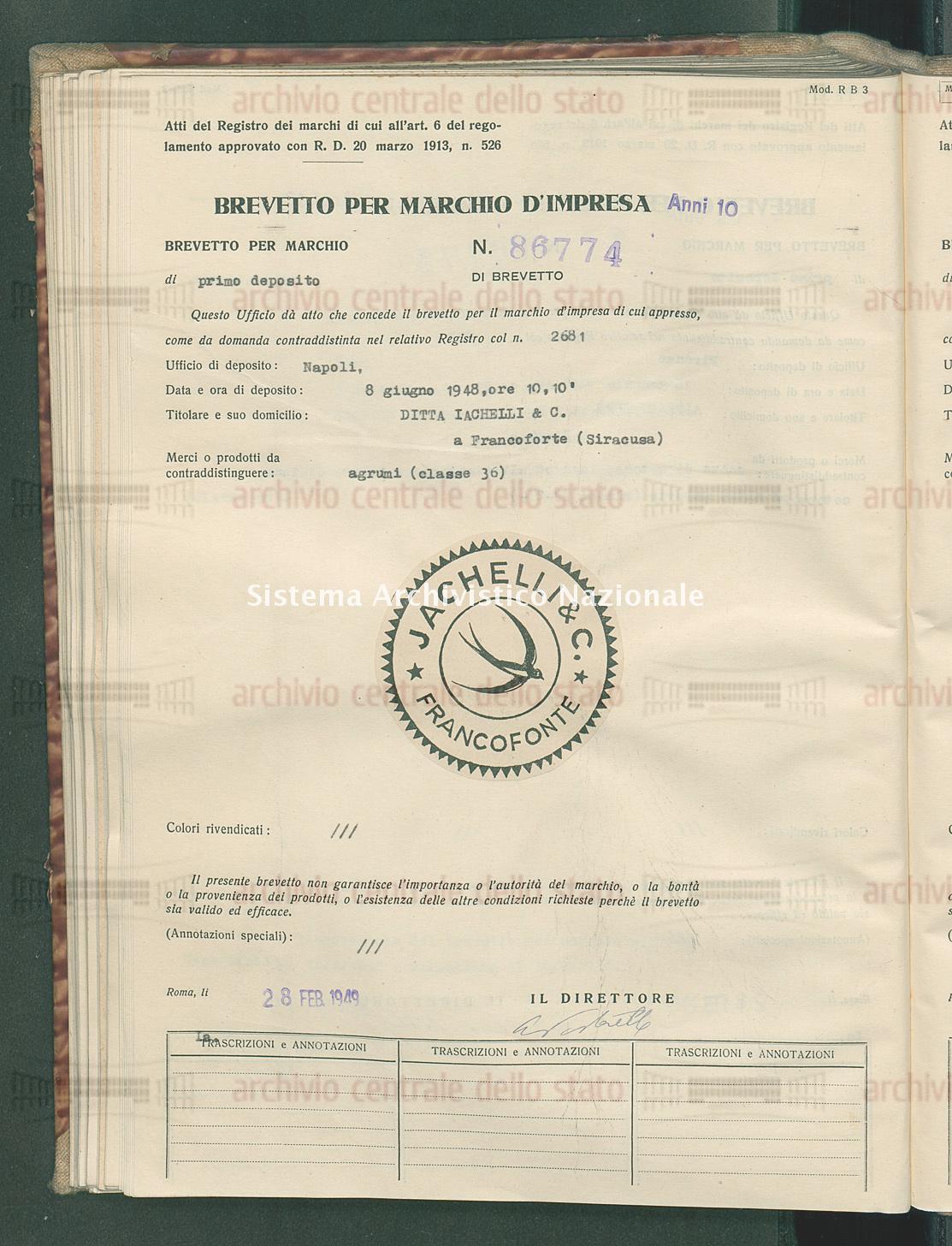 Agrumi Ditta Iachelli & C. (28/02/1949)