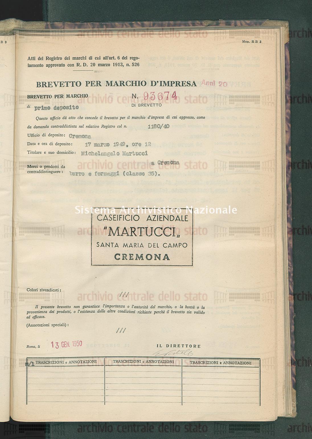 Burro e formaggi Michelangelo Martucci (13/01/1950)