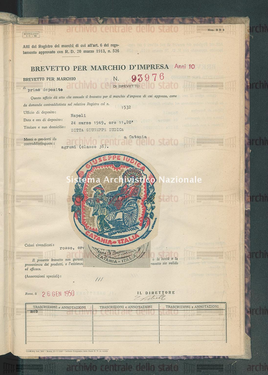 Agrumi Ditta Giuseppe Iudica (26/01/1950)