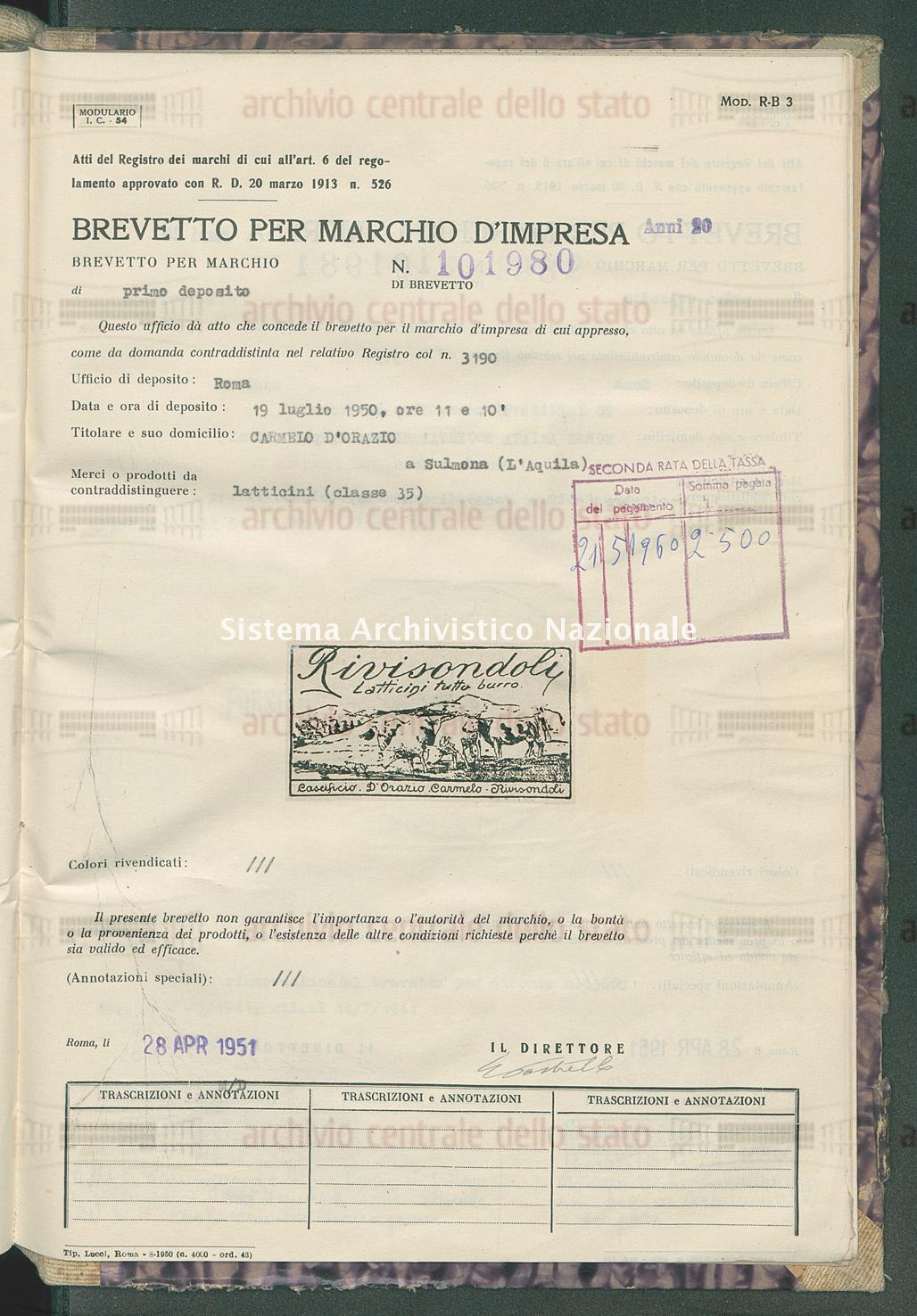 Latticini Carmelo D'Orazio (28/04/1951)