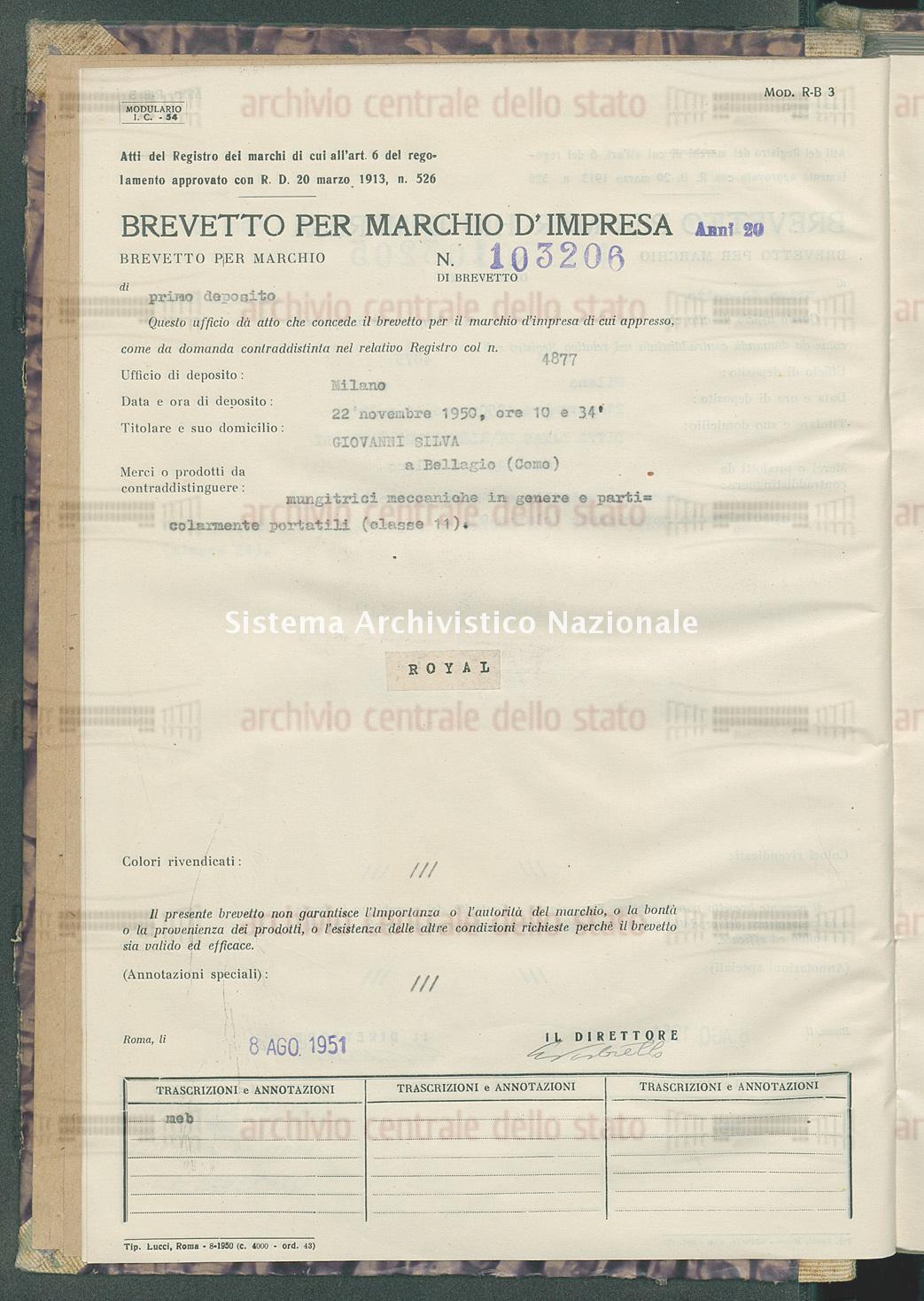 Mungitrici meccaniche in genere e particolarmente portatili Giovanni Silva (08/08/1951)