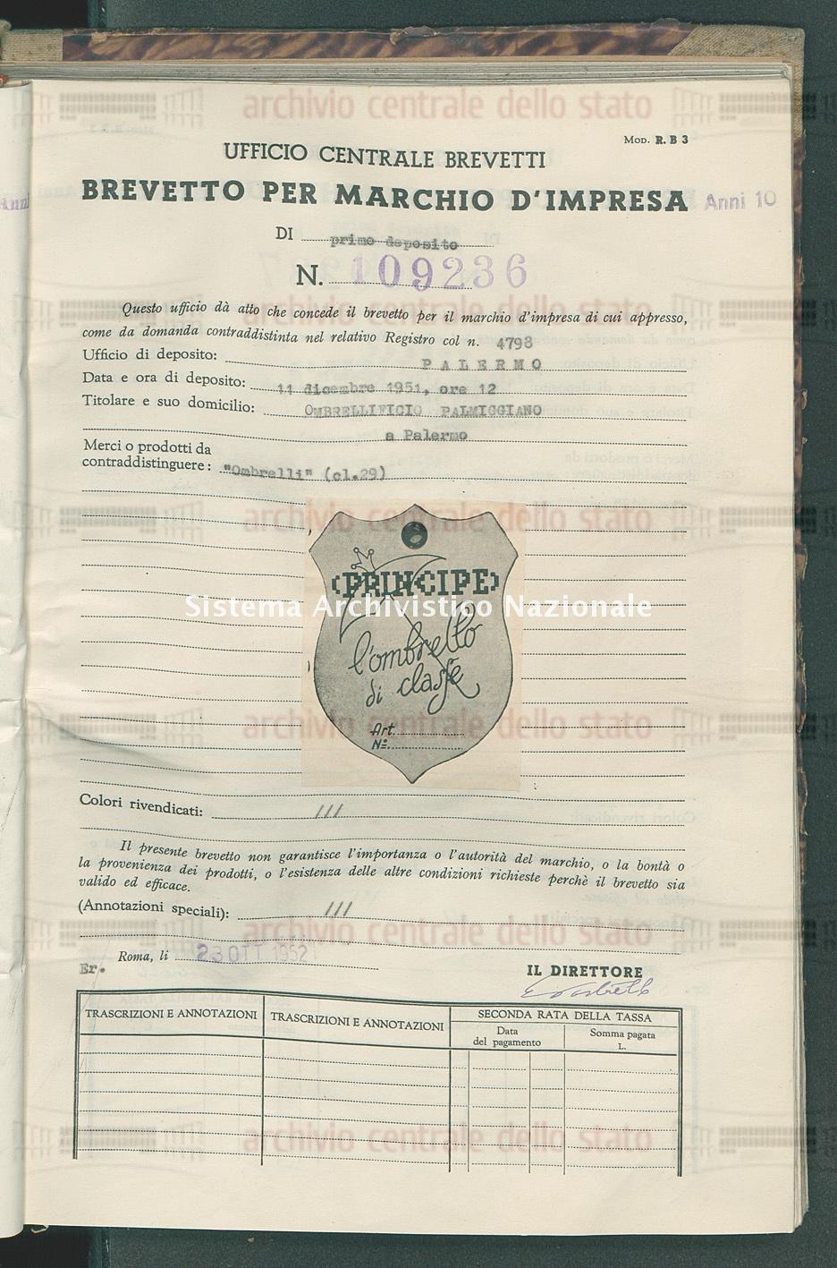 'Ombrelli' Ombrellificio Palmiggiano (23/10/1952)
