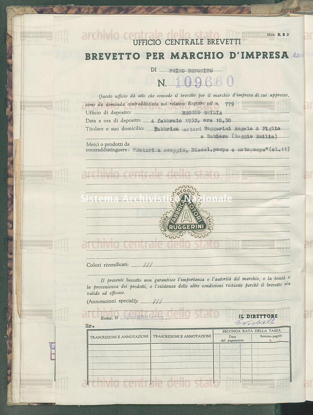 'Motori a scoppio, diesel, pompe e motopompe' Fabbrica A Scoppio, Diesel, Pompe E Motopompe (27/11/1952)
