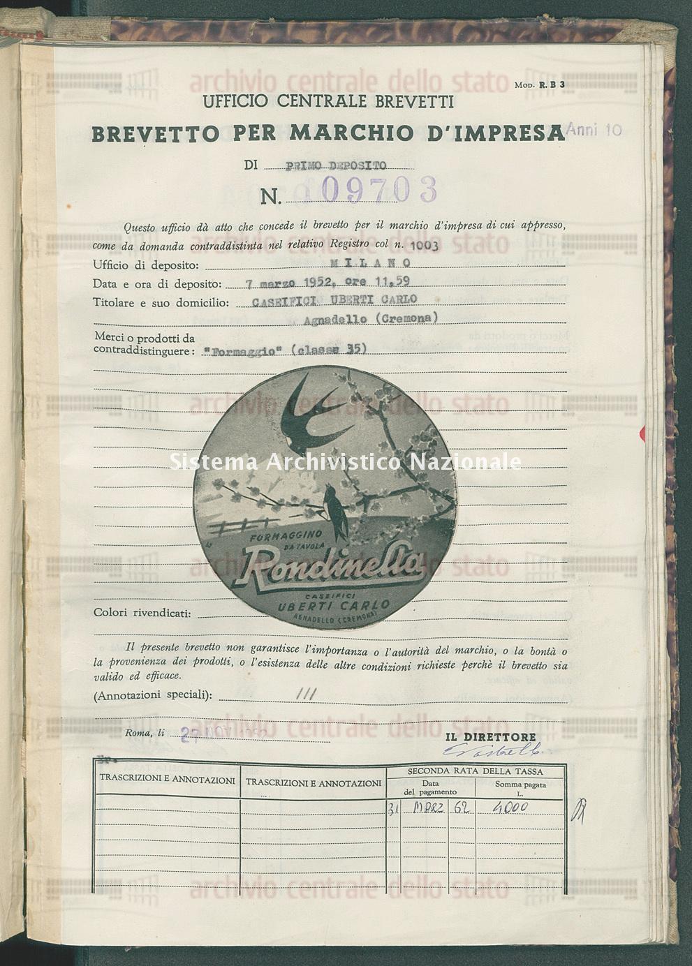 'Formaggio' Caseifici Uberti Carlo (27/11/1952)