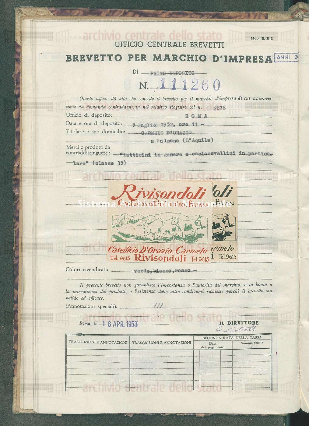 'Latticini in genere e caciocavallini in particolare' Carmelo D'Orazio (16/04/1953)