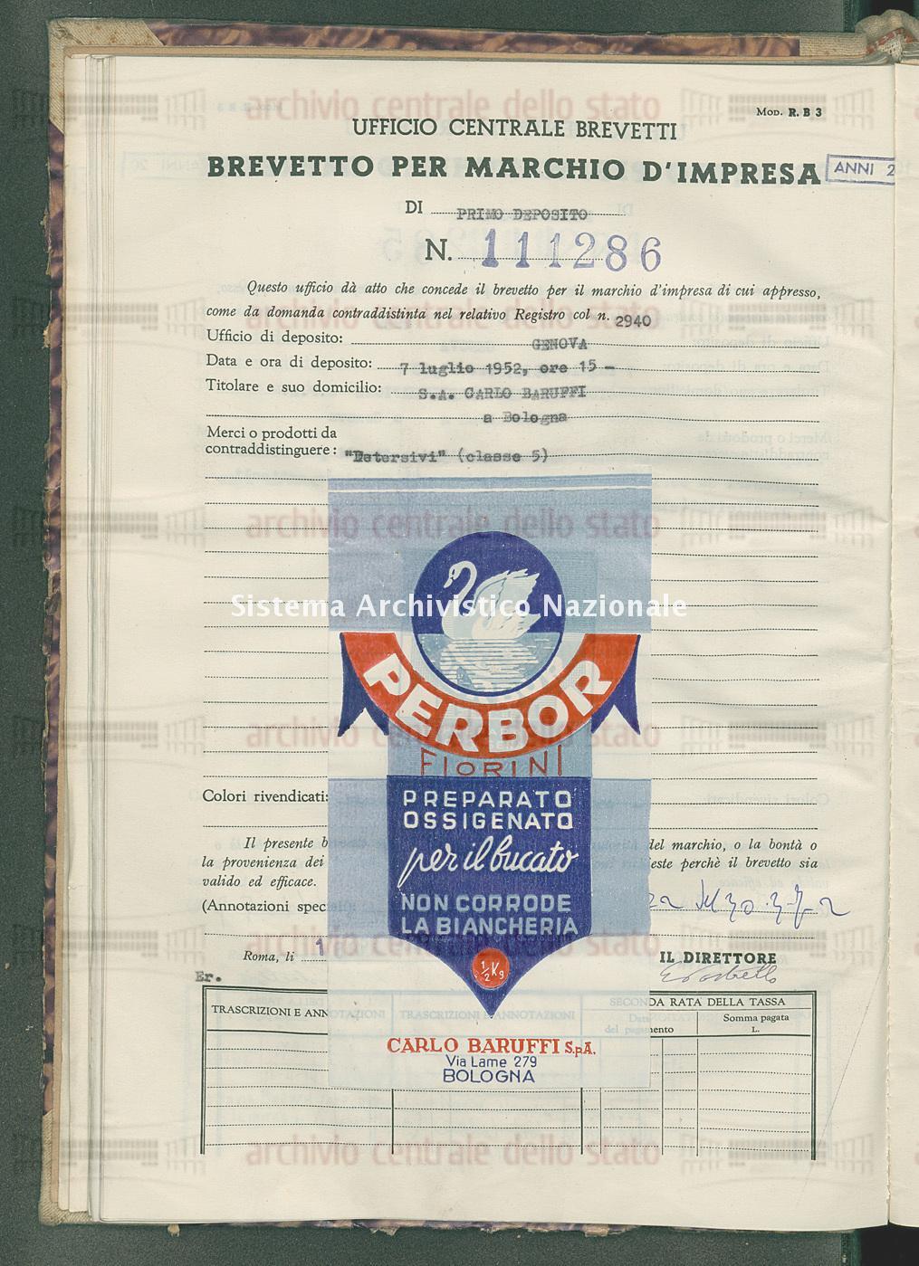 'Detersivi' S.A.Carlo Baruffi (16/04/1953)