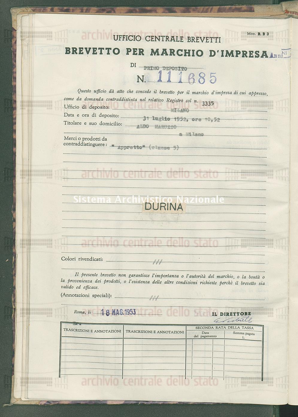 'Appretto' Aldo Maruzzo (18/05/1953)