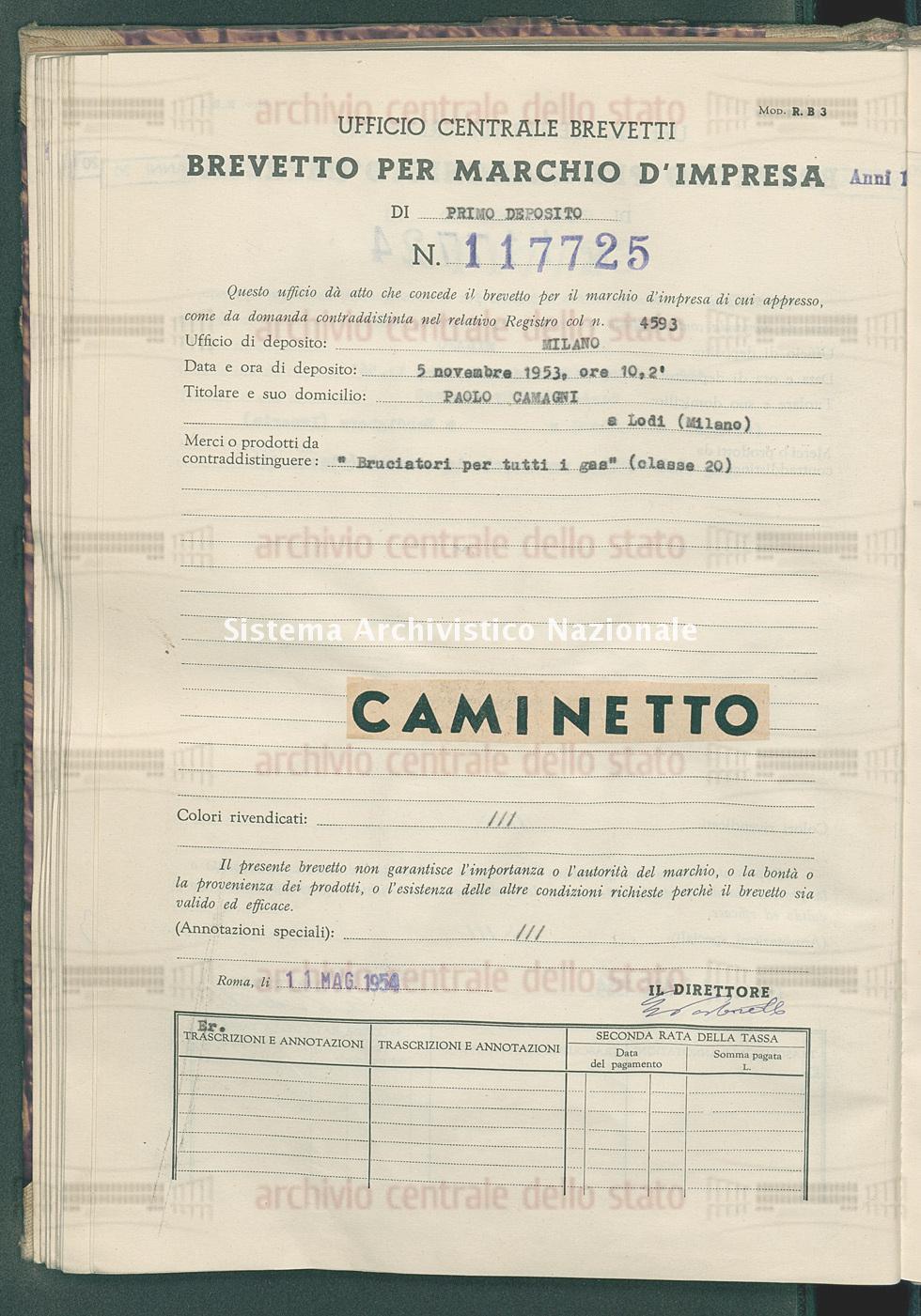 'Bruciatori per tutti i gas' Paolo Camagni (11/05/1954)