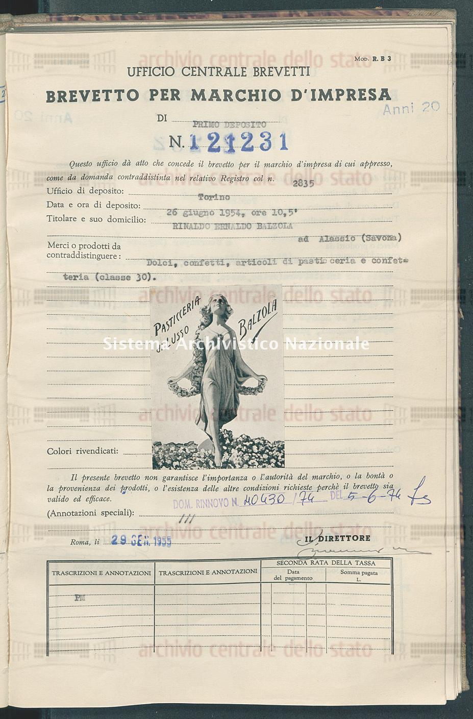Dolci, confetti, articoli di pasticceria e confetteria Rinaldo Ernaldo Balzola (29/01/1955)