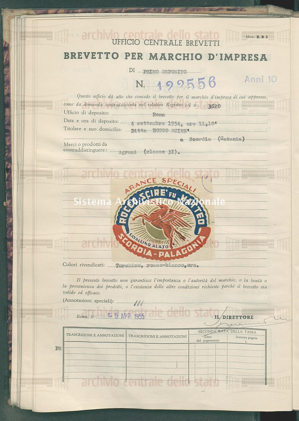Agrumi Ditta Rocco Scire' (05/04/1955)