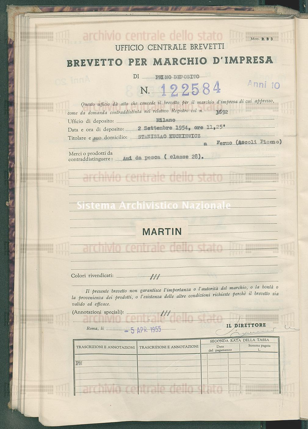 Ami da prova Stanislao Kuckiewicz (05/04/1955)