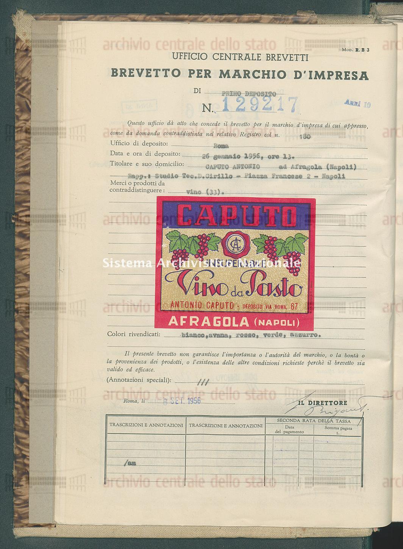 Vino Caputo Antonio (08/09/1956)