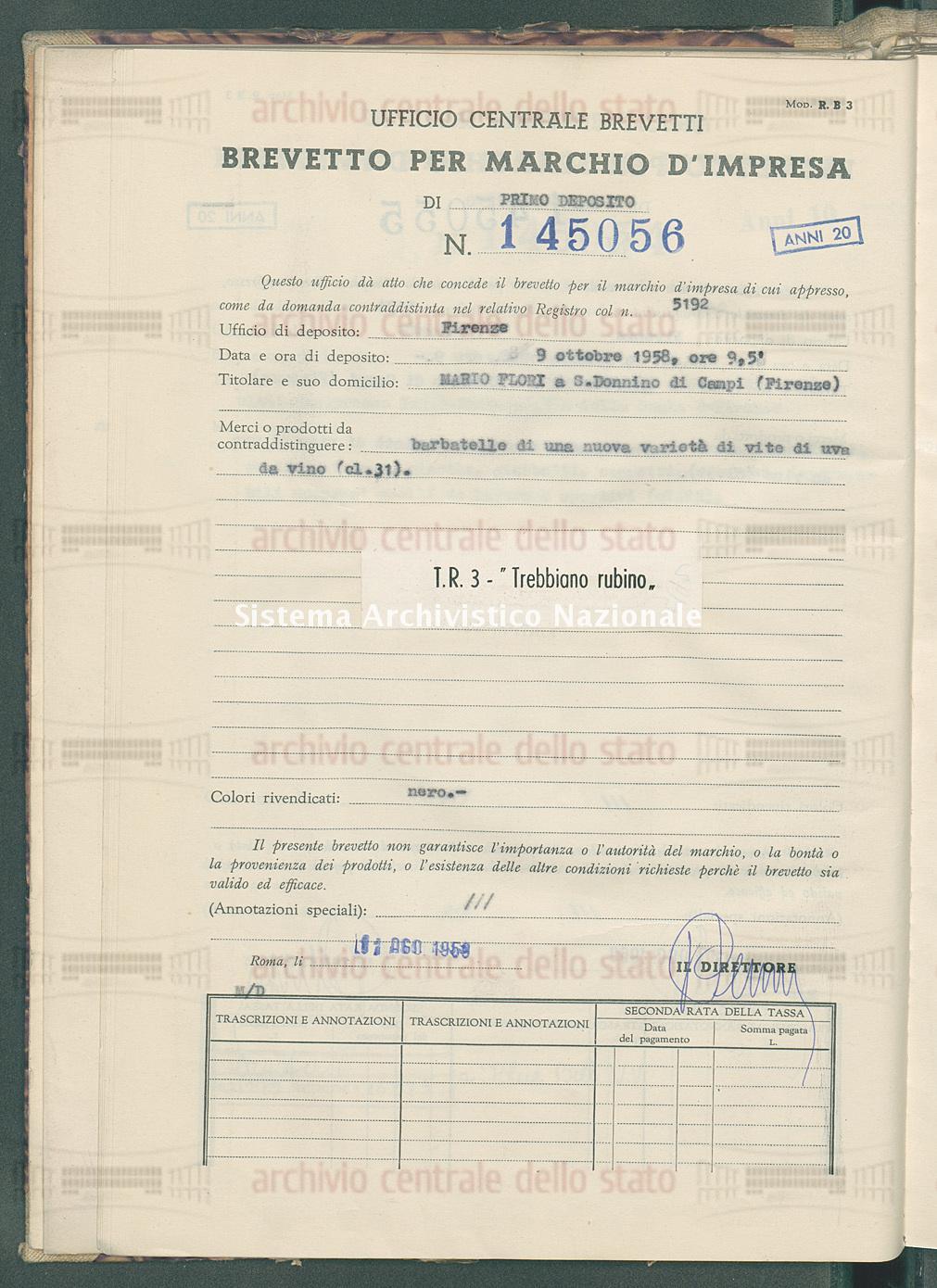 Barbatelle di una nuova ecc. Mario Flori (11/08/1959)