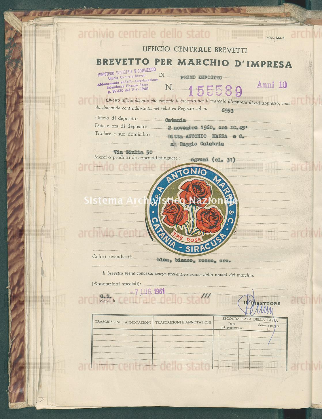 Agrumi Ditta Antonio Marra E C. (07/07/1961)