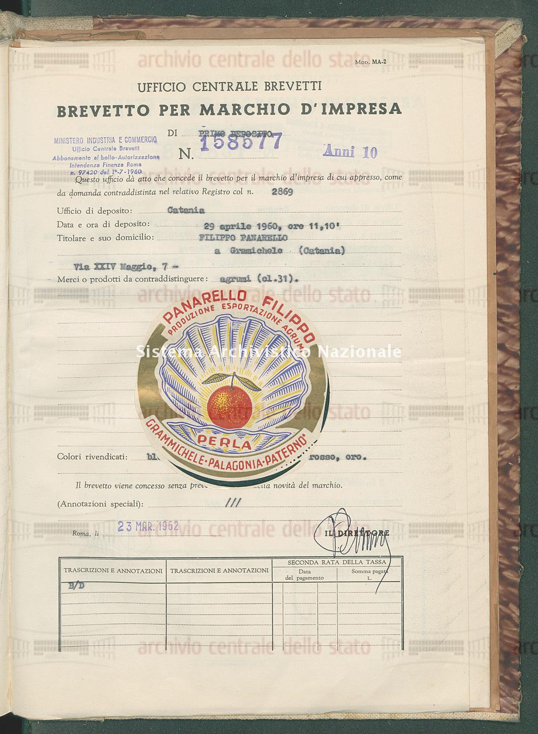 Agrumi Filippo Panarello (23/03/1962)