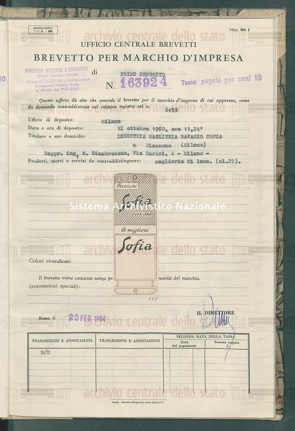 Maglieria di lana Industria Maglieria Ravasio Sofia (20/02/1964)