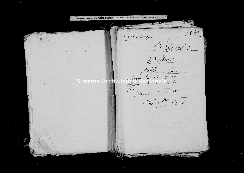 Archivio di stato di Catanzaro - Stato civile italiano - Catanzaro - Nati - 00/09/1810 -