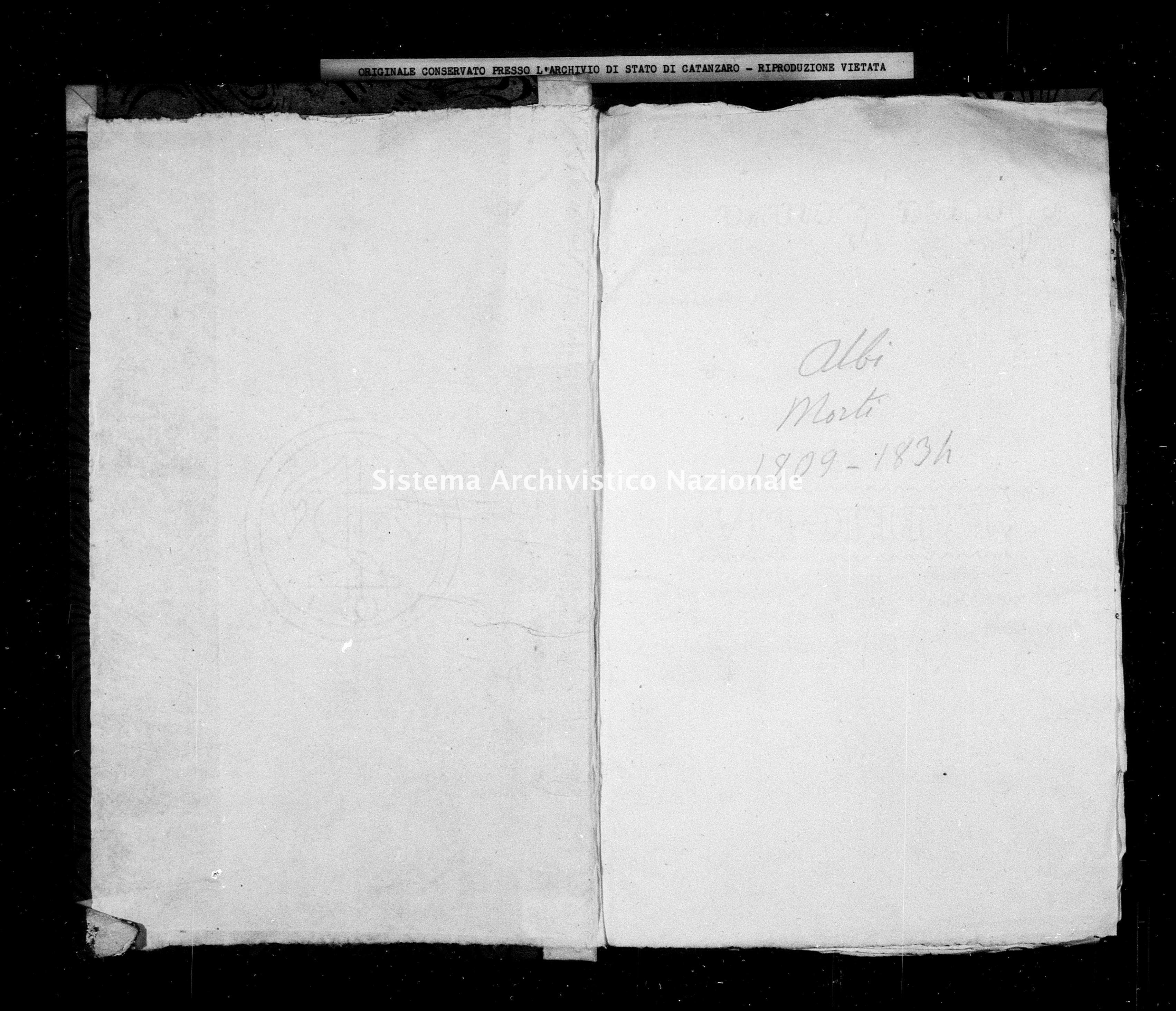 Archivio di stato di Catanzaro - Stato civile napoleonico - Albi - Morti - 1809 -