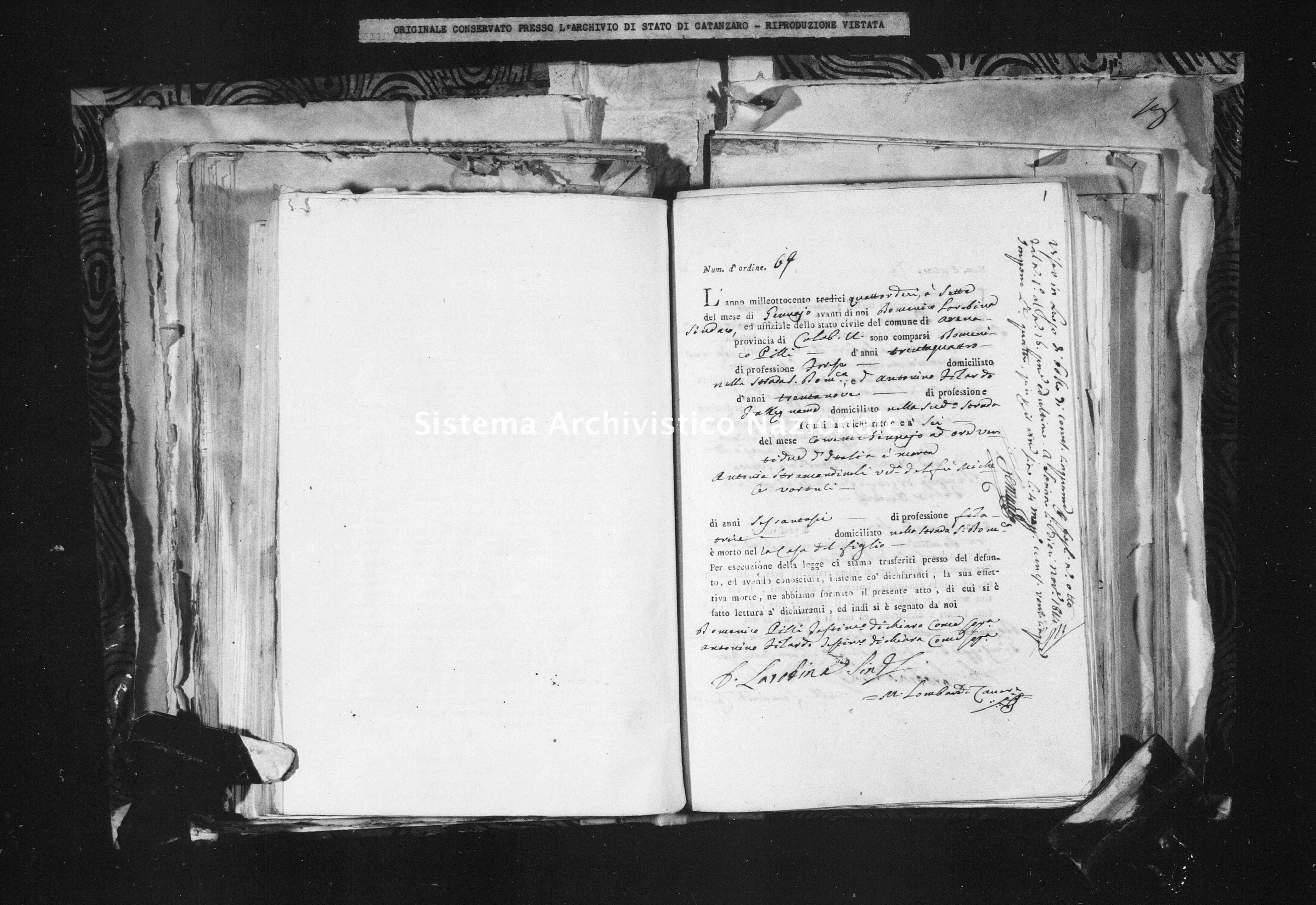 Archivio di stato di Catanzaro - Stato civile napoleonico - Arena - Morti - 1814 - 102 -