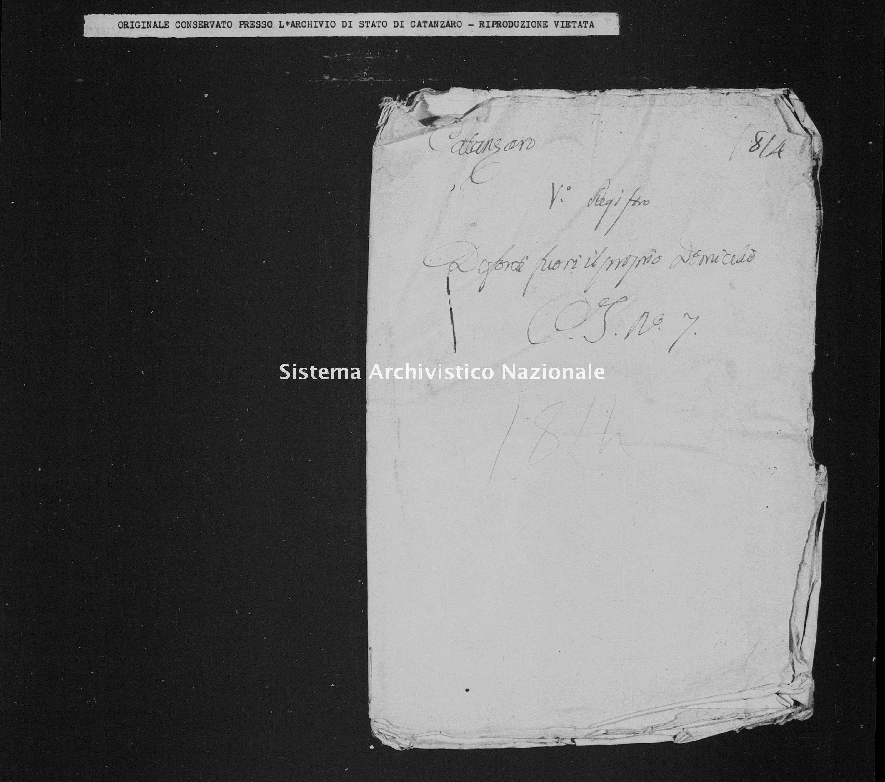 Archivio di stato di Catanzaro - Stato civile italiano - Catanzaro - Diversi, morti fuori domicilio - 1814 -