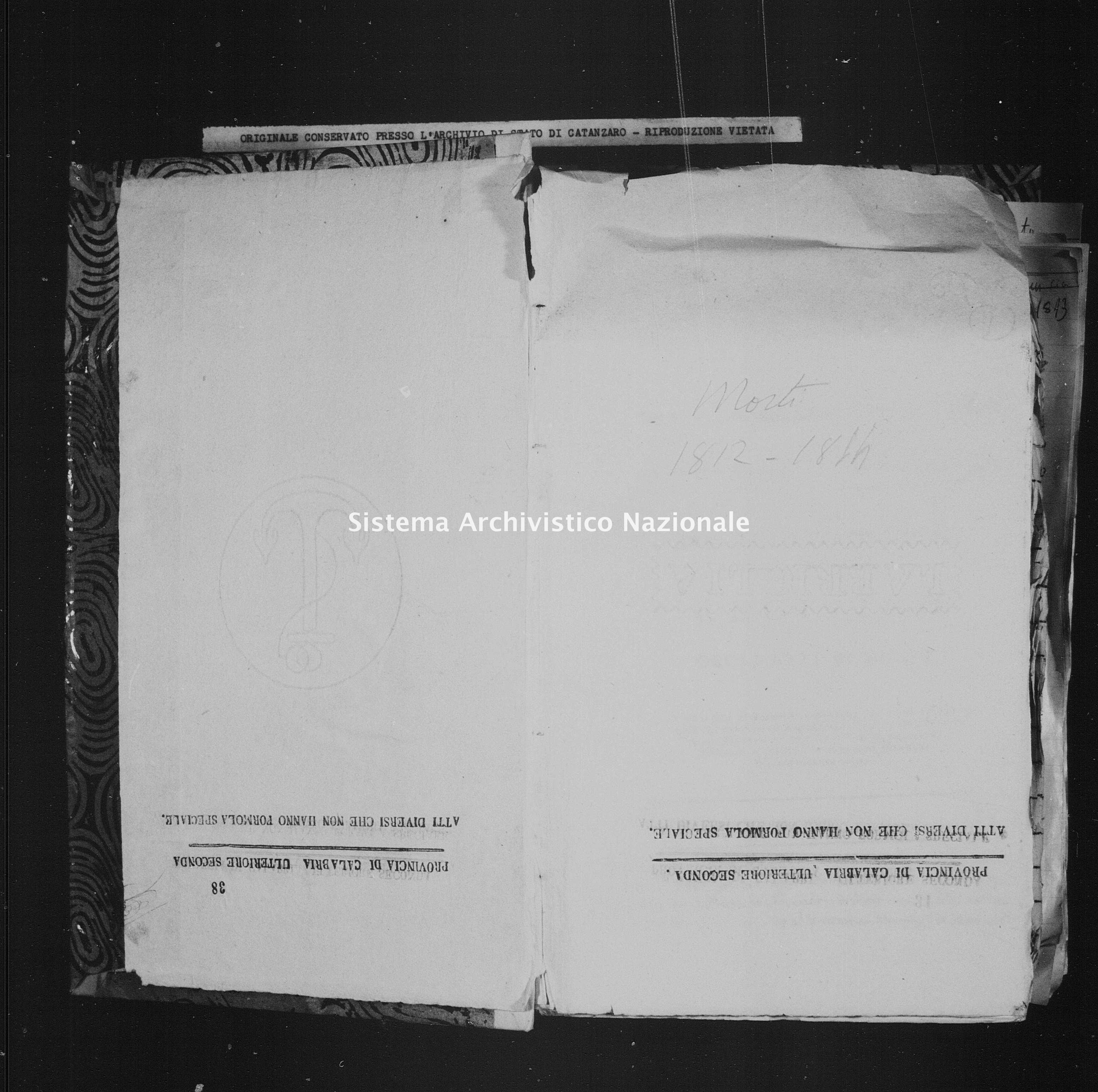 Archivio di stato di Catanzaro - Stato civile italiano - Catanzaro - Morti - 08/11/1812-31/12/1812 -