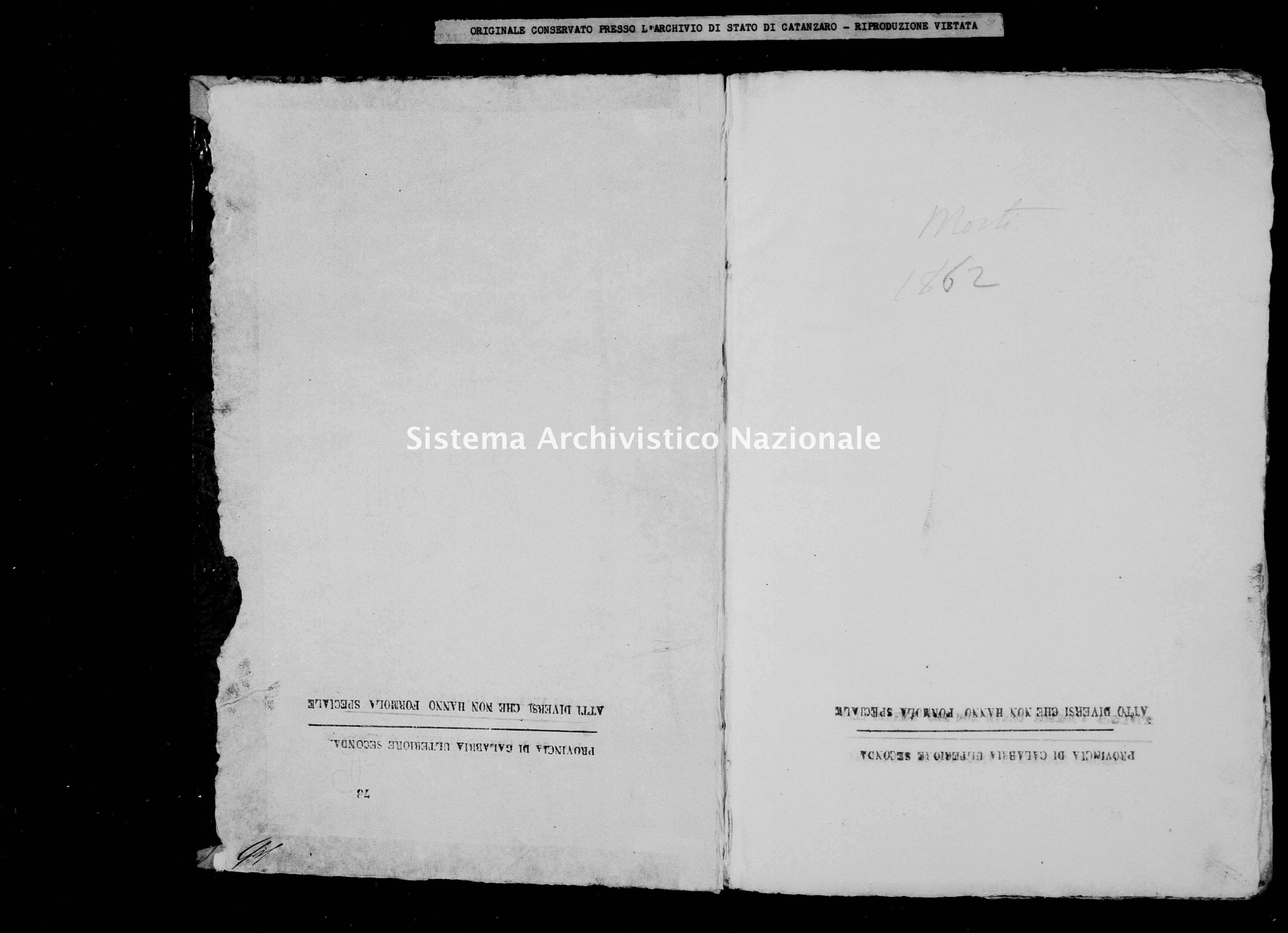 Archivio di stato di Catanzaro - Stato civile italiano - Catanzaro - Morti - 1862 -