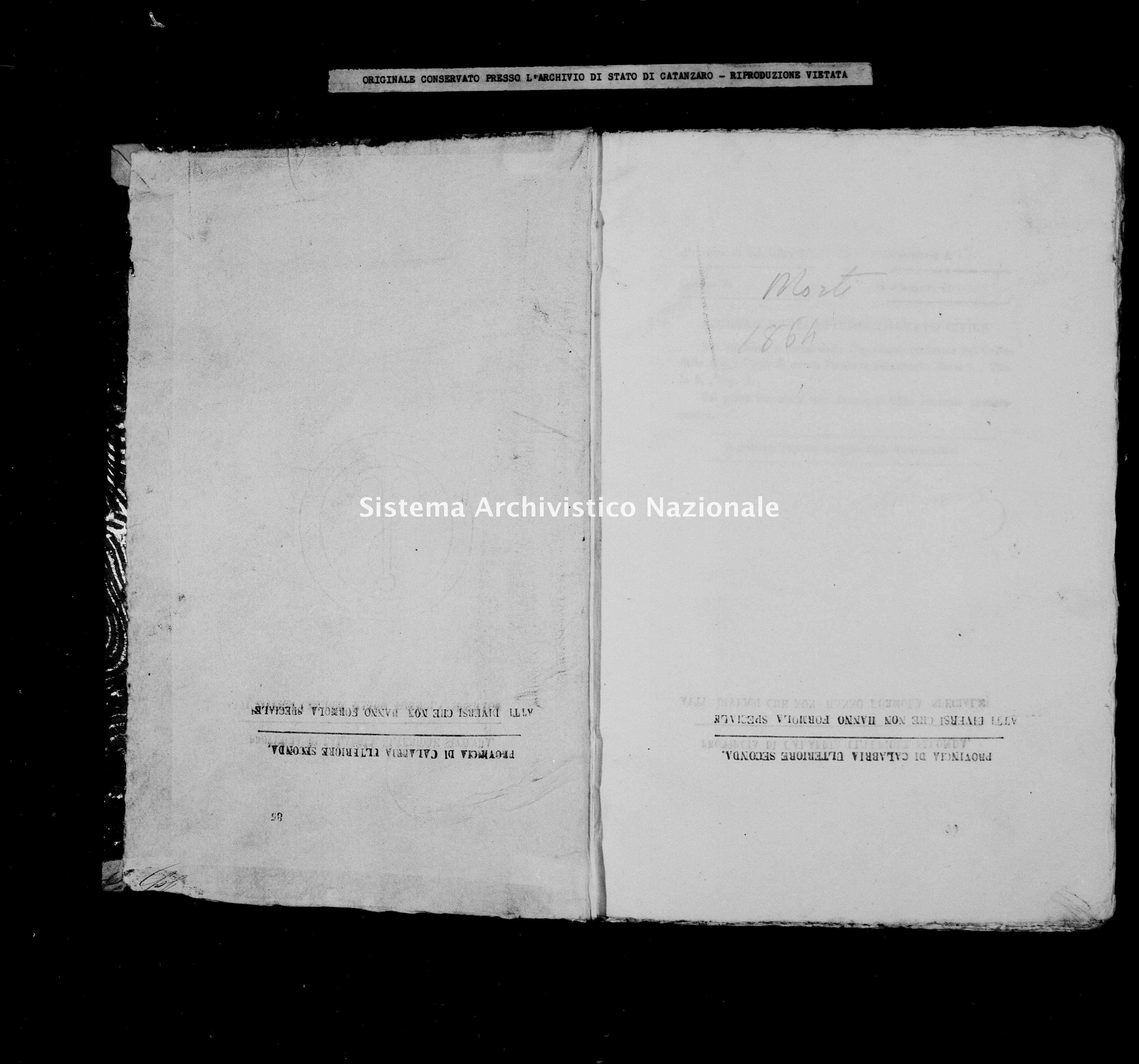 Archivio di stato di Catanzaro - Stato civile italiano - Catanzaro - Morti - 1864 -
