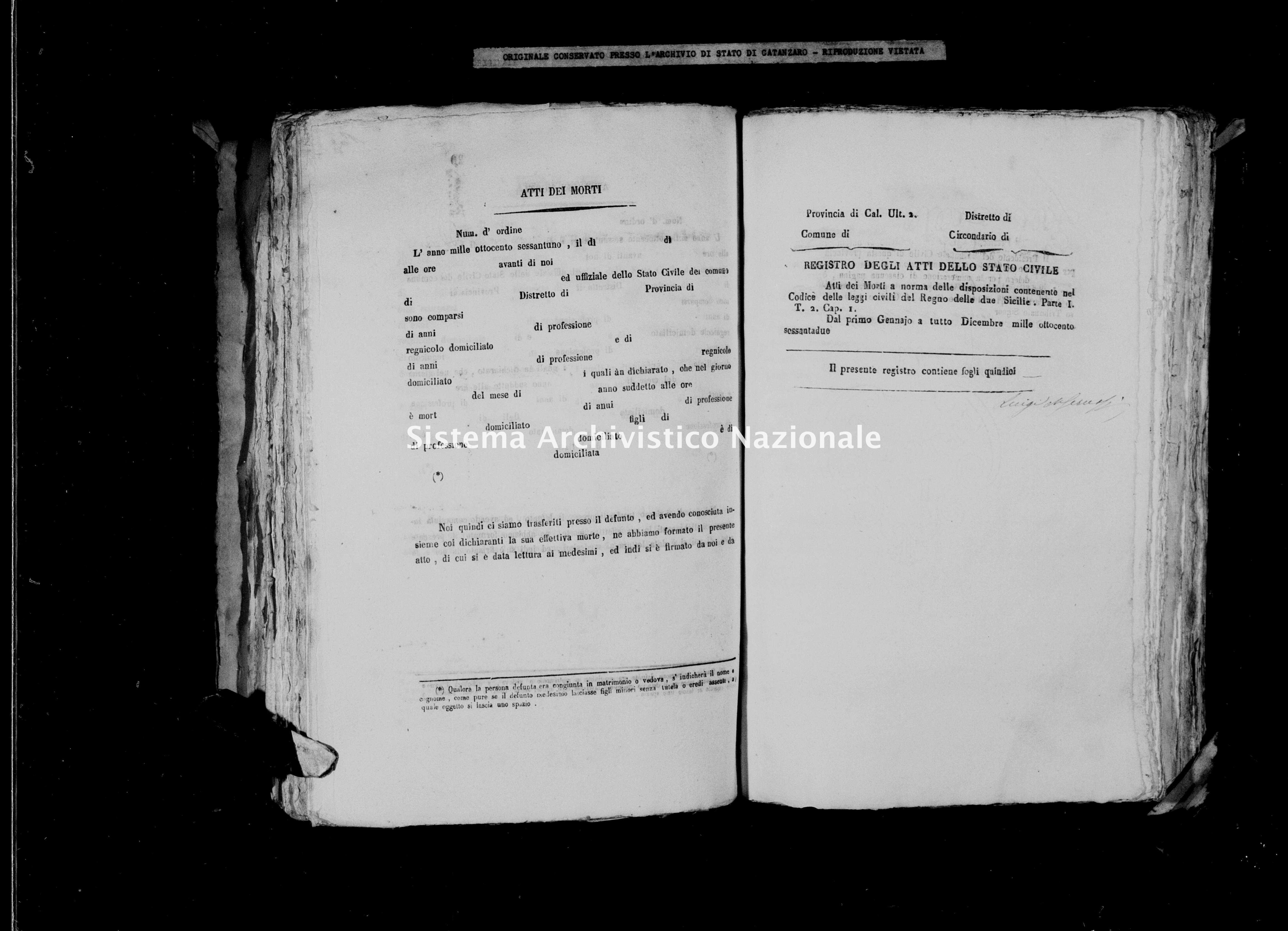 Archivio di stato di Catanzaro - Stato civile italiano - Cerva - Morti - 1862 -