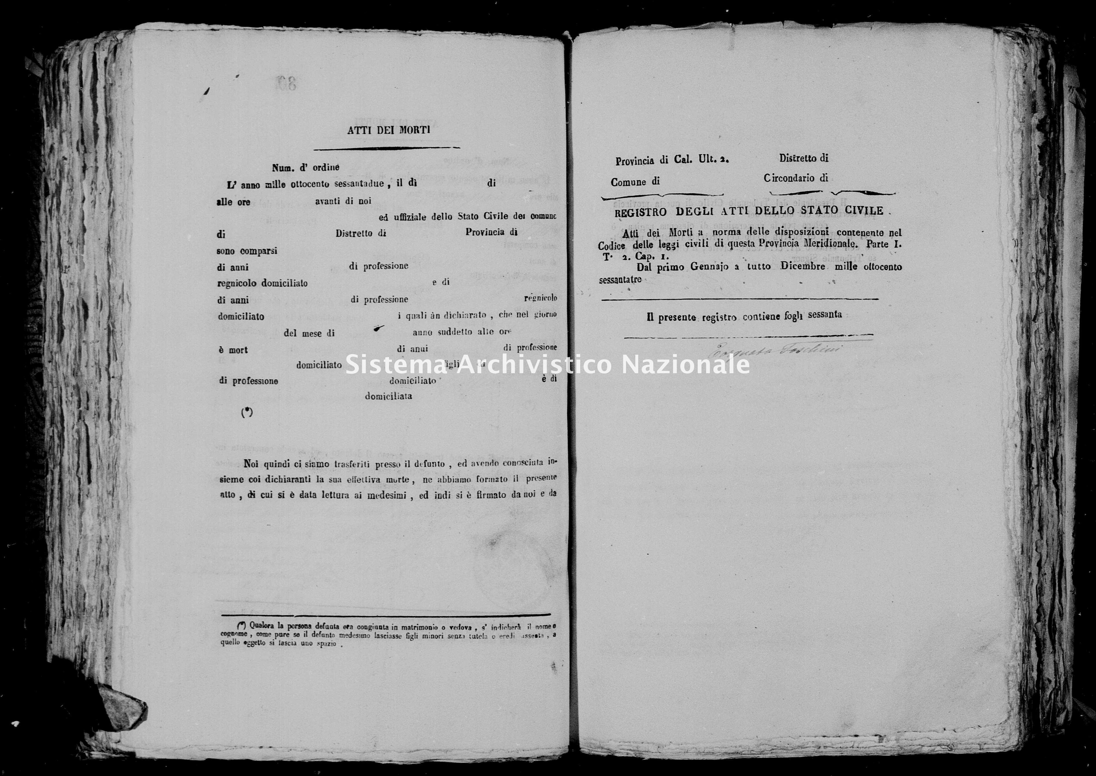 Archivio di stato di Catanzaro - Stato civile italiano - Girifalco - Morti - 1863 - 1339 -