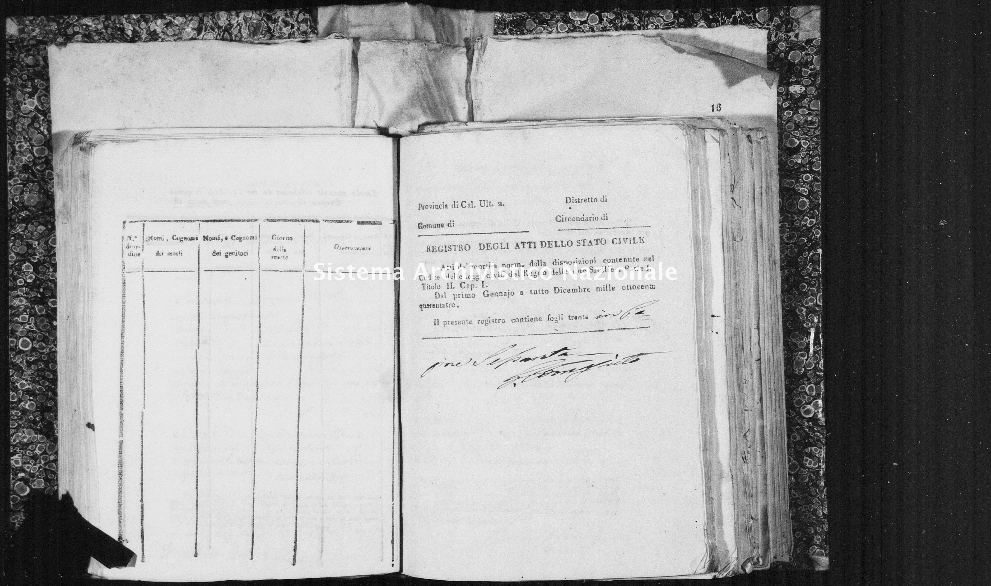 Archivio di stato di Catanzaro - Stato civile italiano - Isola Capo Rizzuto - Morti - 18/05/1843-31/12/1843 - 1458 -