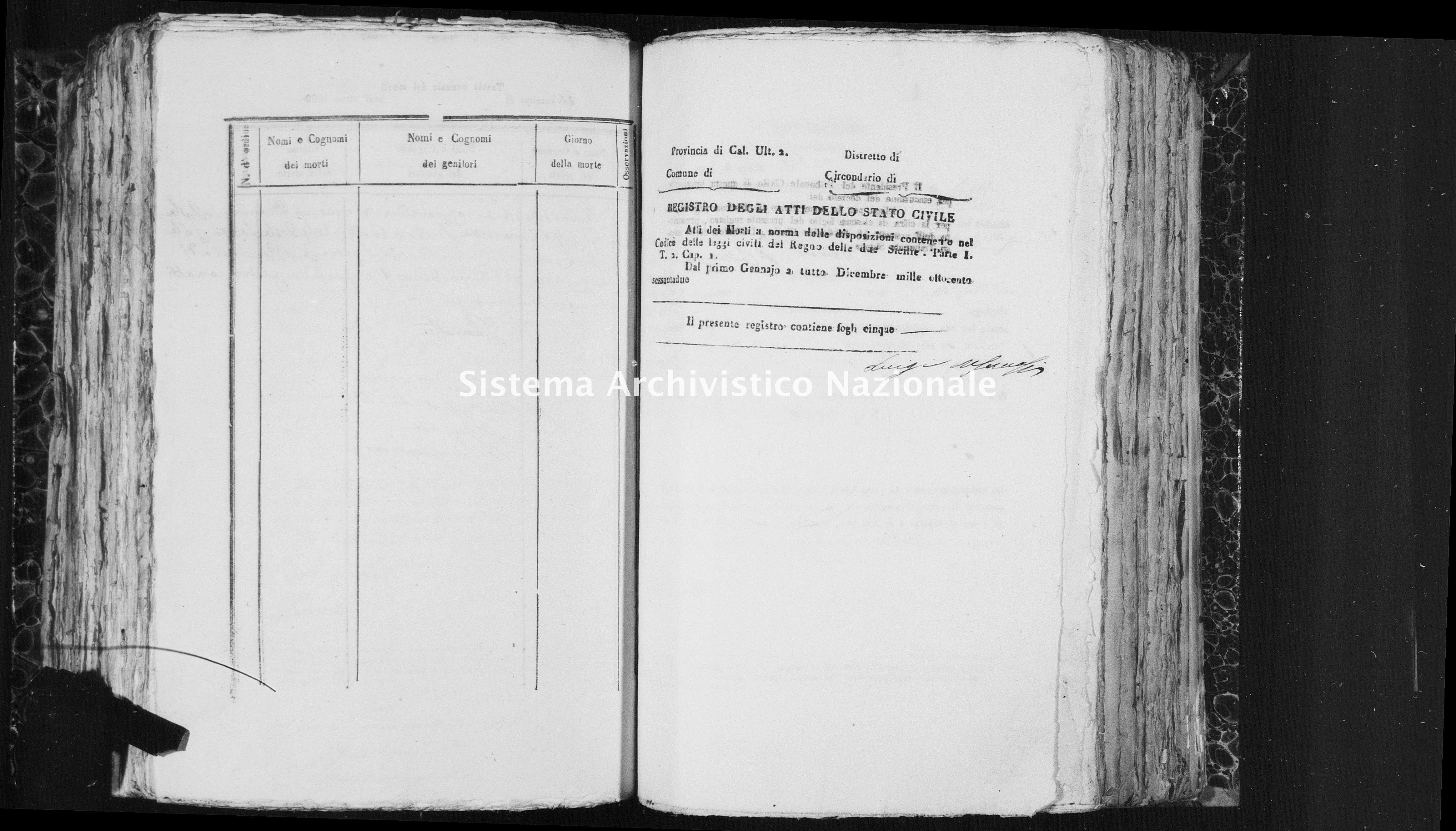 Archivio di stato di Catanzaro - Stato civile italiano - Isola Capo Rizzuto - Morti - 03/07/1862-14/09/1862 - 1460 -