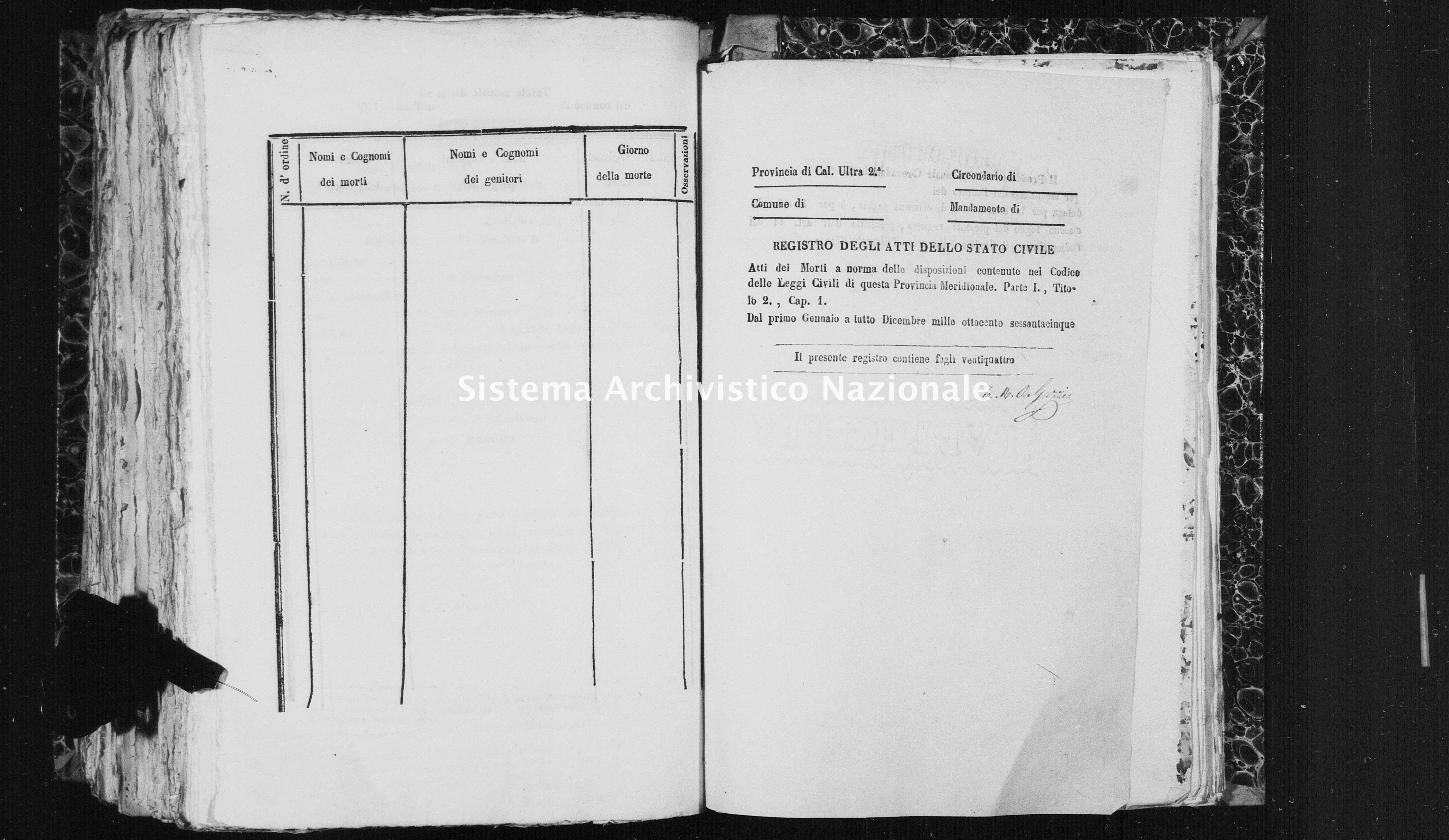 Archivio di stato di Catanzaro - Stato civile italiano - Isola Capo Rizzuto - Morti - 1865 - 1460 -