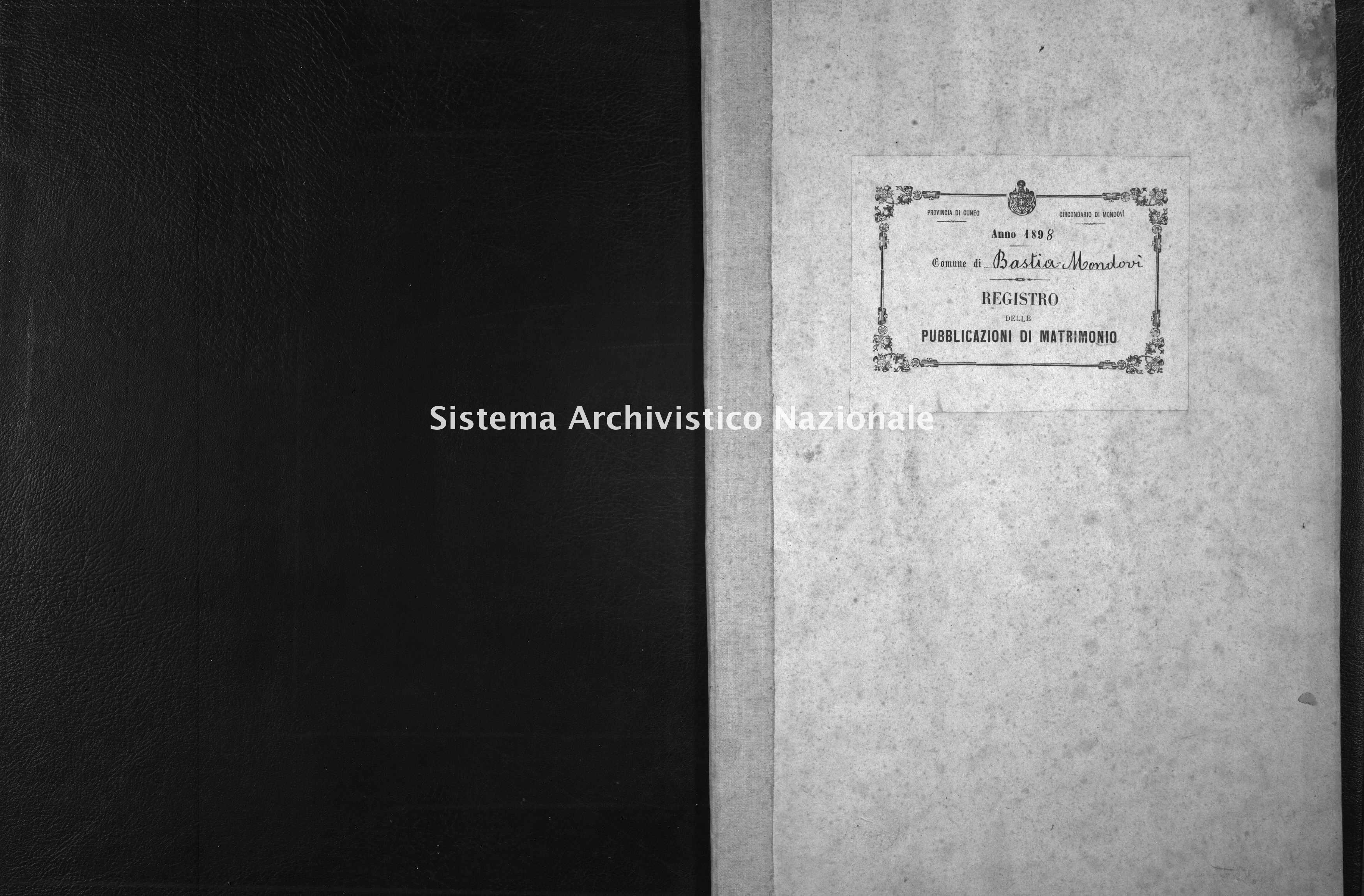 Archivio di stato di Cuneo - Stato civile italiano - Bastia Mondovì - Matrimoni, pubblicazioni - 1898 -