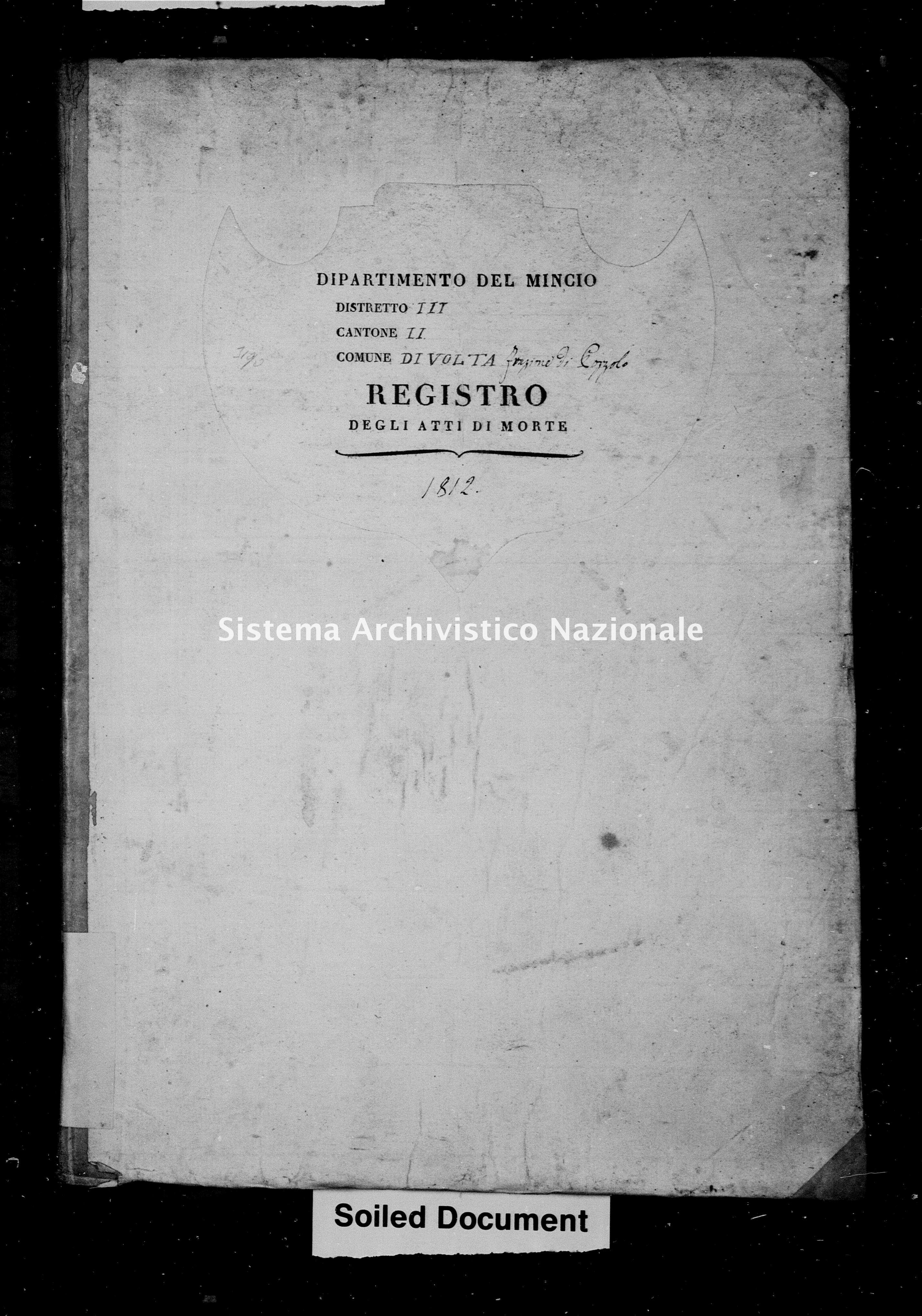 Archivio di stato di Mantova - Stato civile napoleonico - Pozzolo-(oggi-frazione-di-Marmirolo) - Morti - 1812 - 3191 -