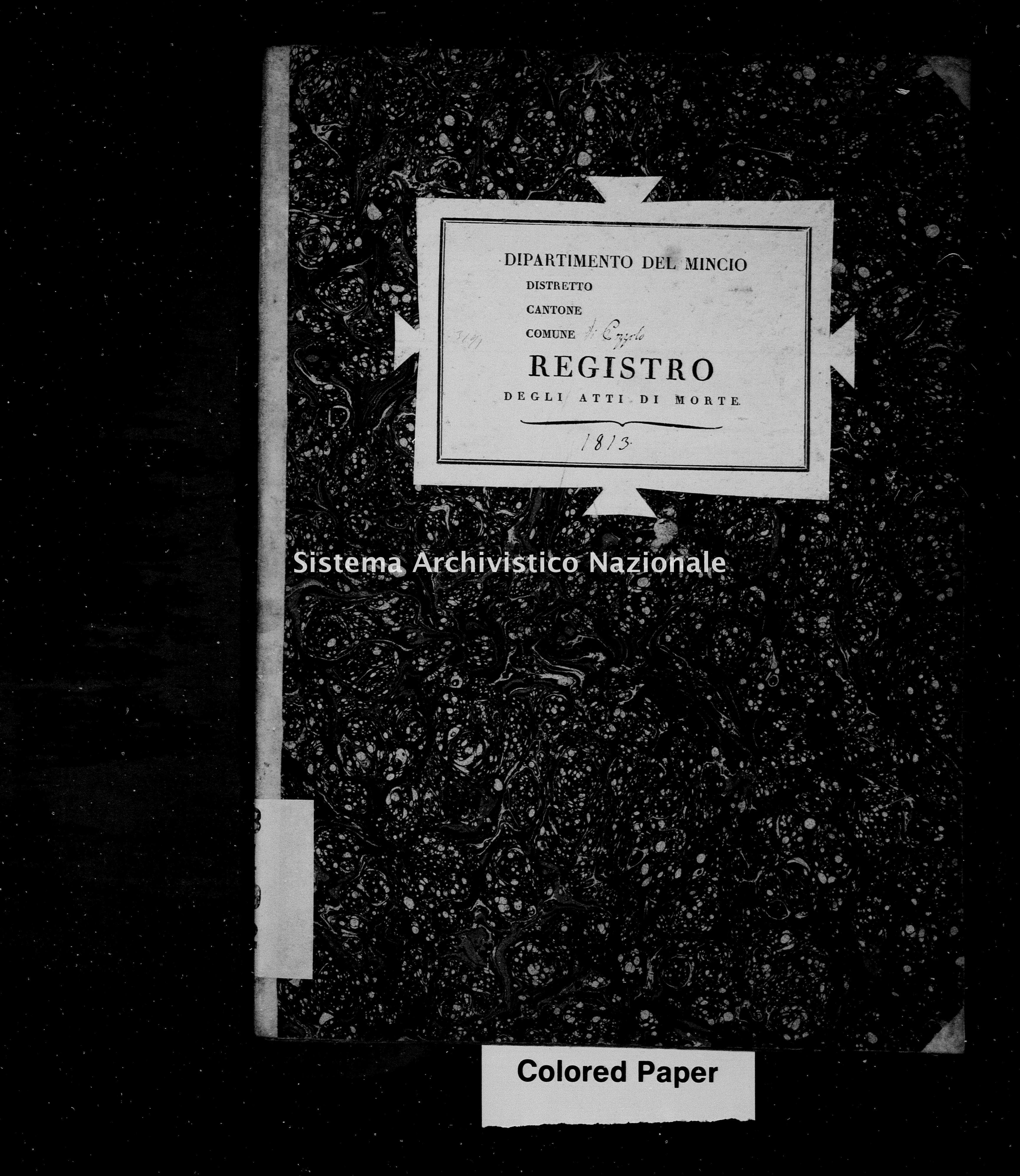 Archivio di stato di Mantova - Stato civile napoleonico - Pozzolo-(oggi-frazione-di-Marmirolo) - Morti - 1813 - 3192 -