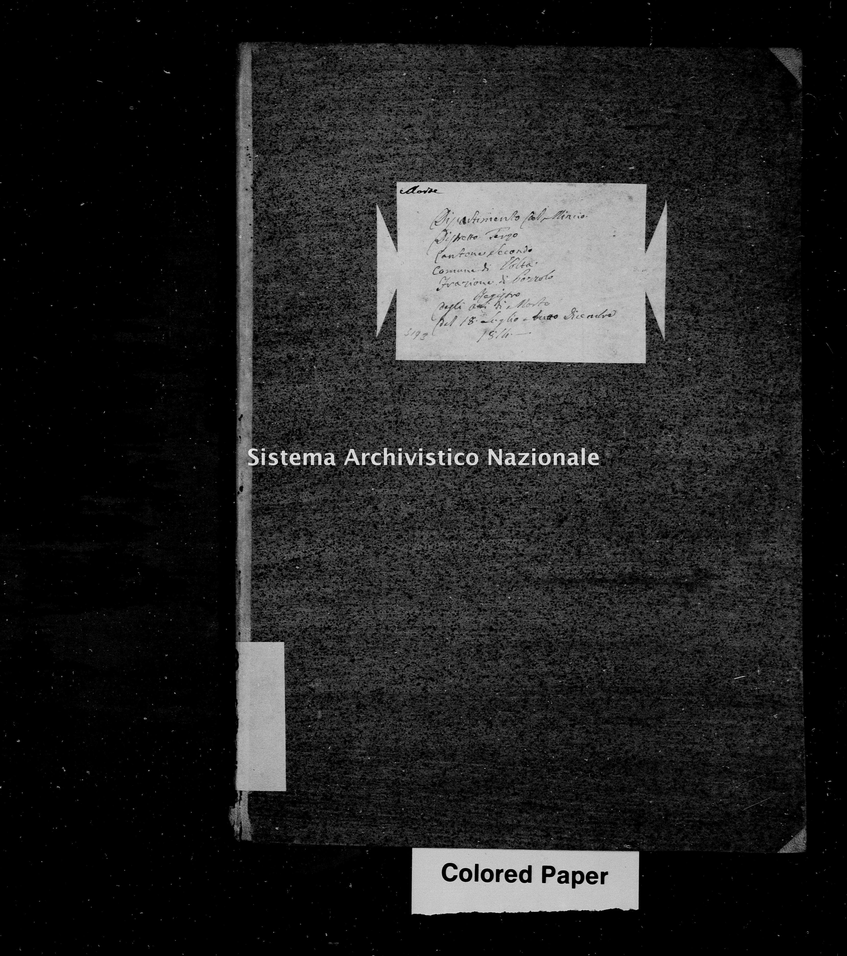 Archivio di stato di Mantova - Stato civile napoleonico - Pozzolo-(oggi-frazione-di-Marmirolo) - Morti - 1814 - 3194 -